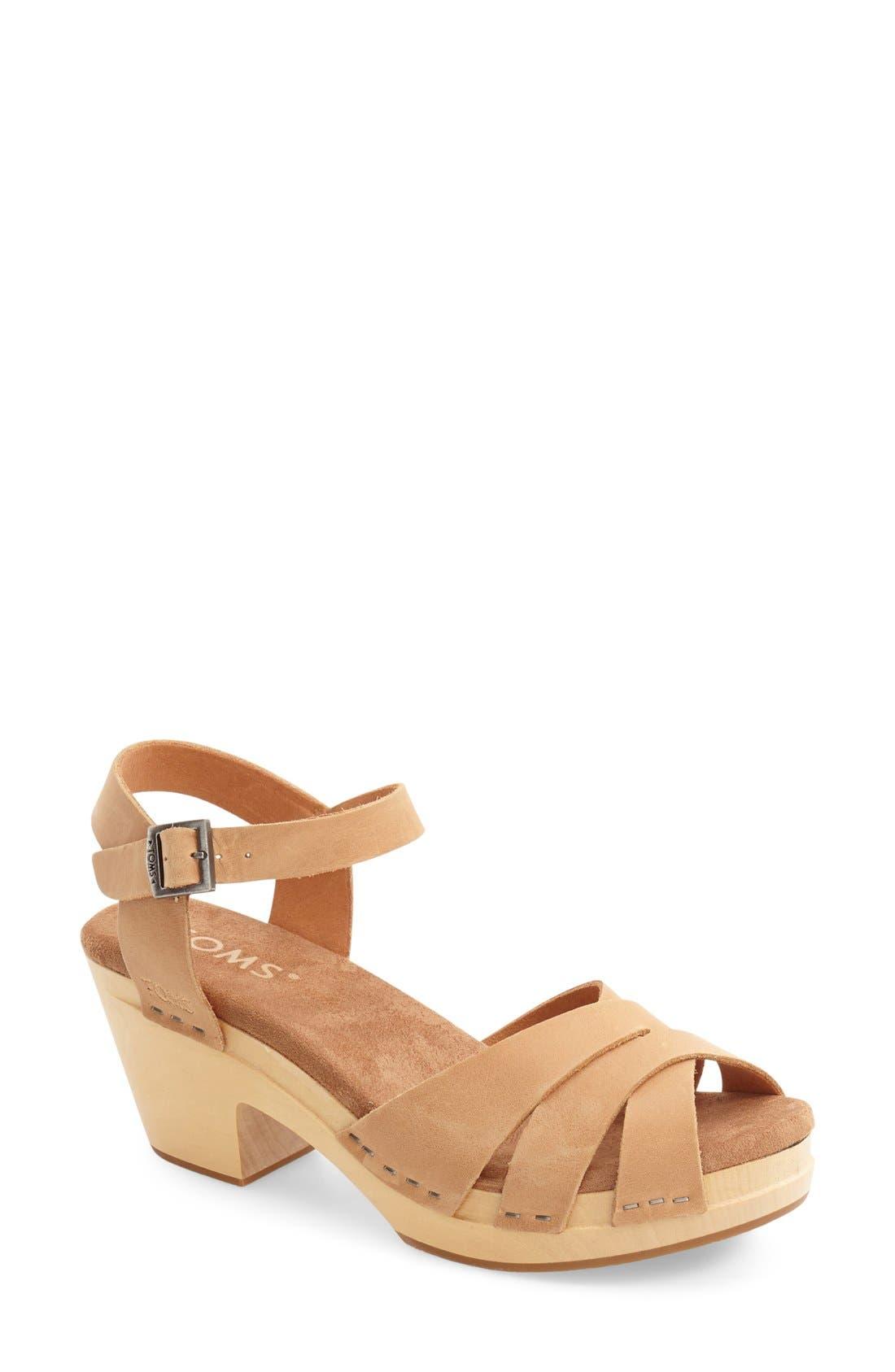Main Image - TOMS 'Beatrix' Leather Sandal (Women)