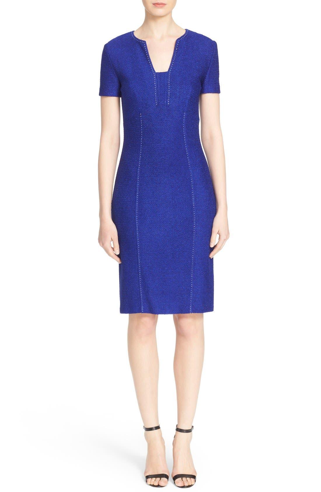 Alternate Image 1  - St. John Collection 'Newport' Knit Sheath Dress
