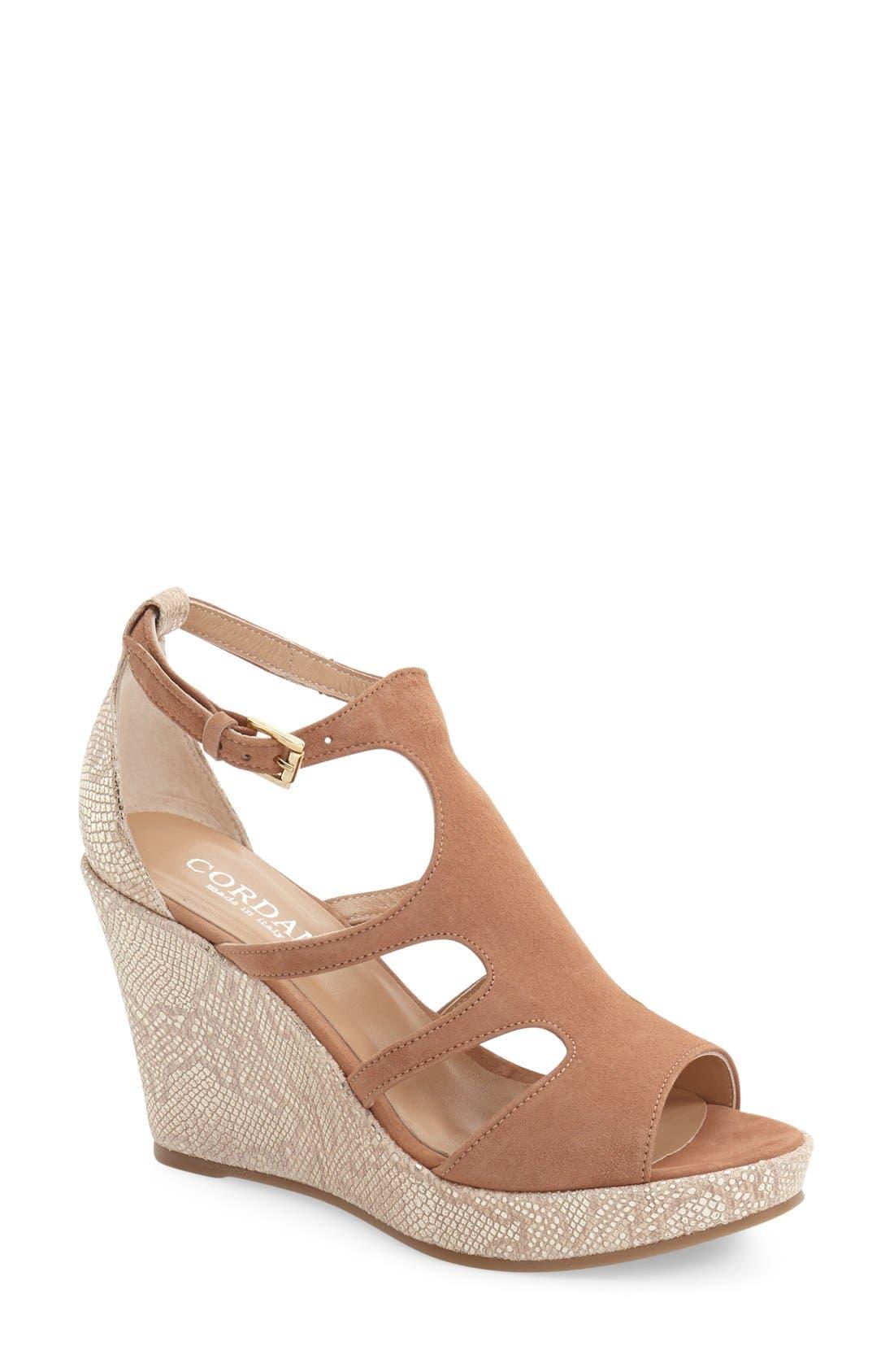 Alternate Image 1 Selected - Cordani 'Lennix' Platform Wedge Sandal (Women)