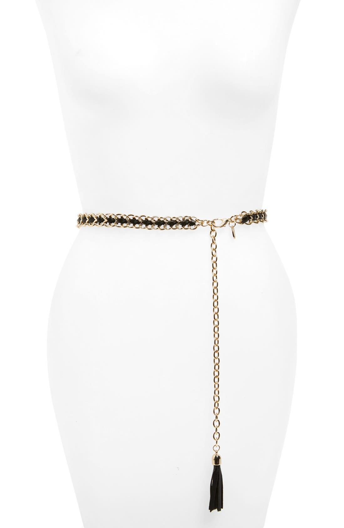 Main Image - Cara Braided Chain Belt