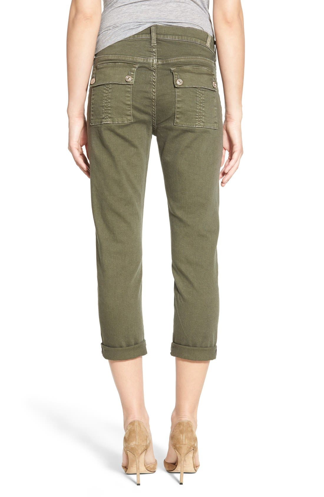 Alternate Image 2  - 7 For All Mankind® Crop Slim Boyfriend Military Pants