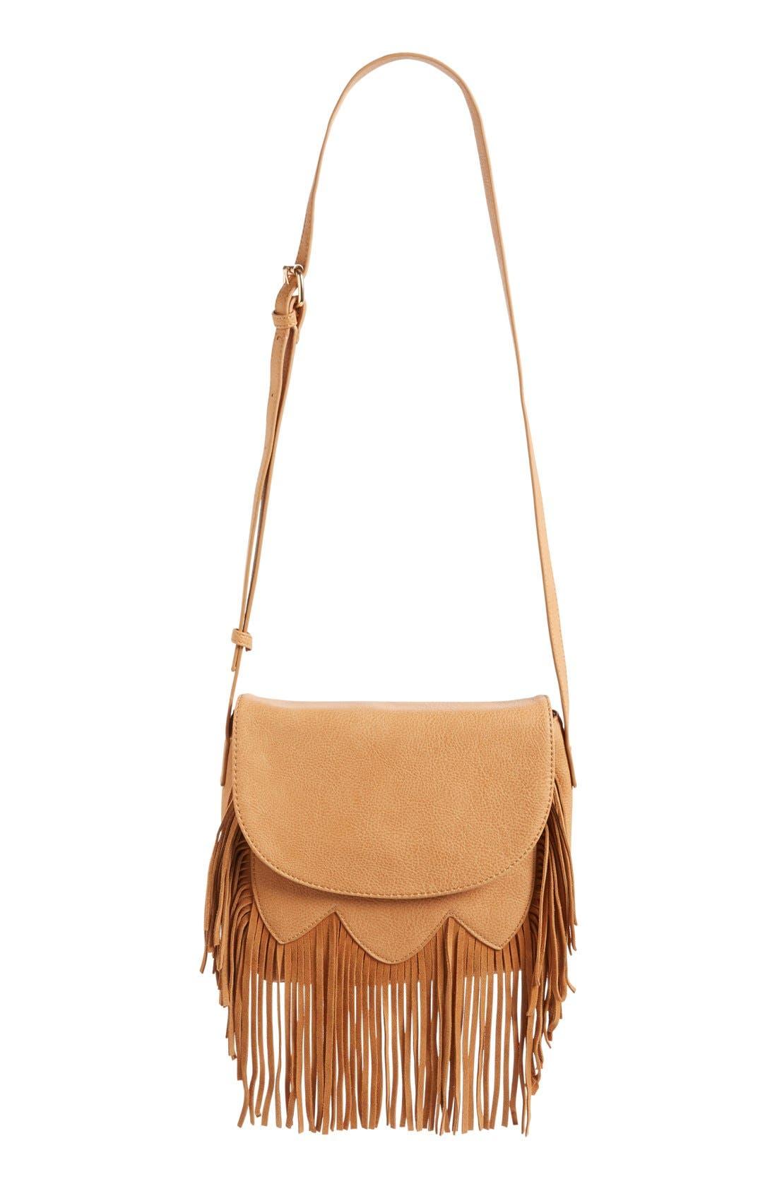 Alternate Image 7  - Sole Society 'Kerry' Fringe Faux Leather Crossbody Bag