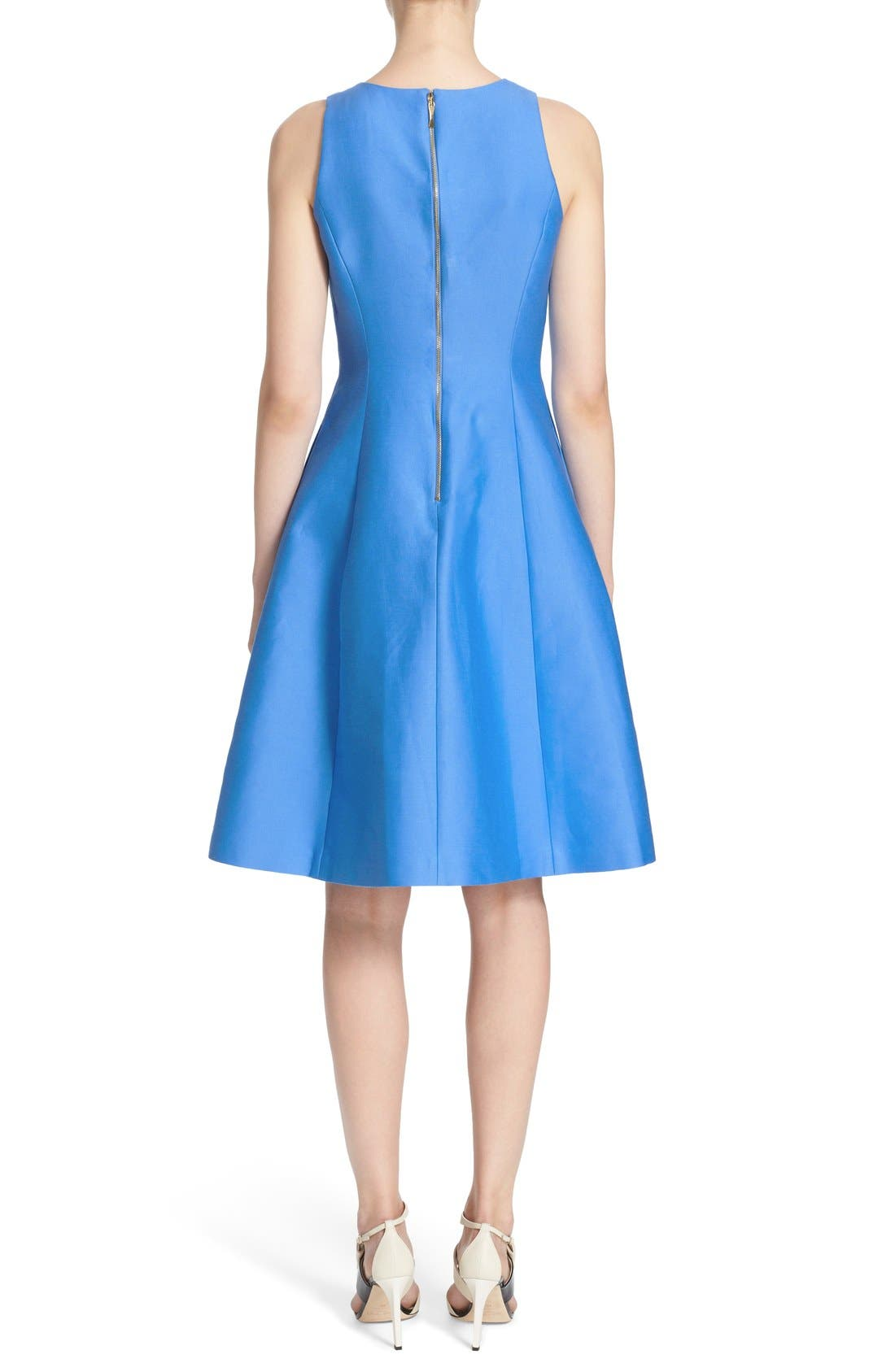 Alternate Image 2  - kate spade new york cotton silk fit & flare dress