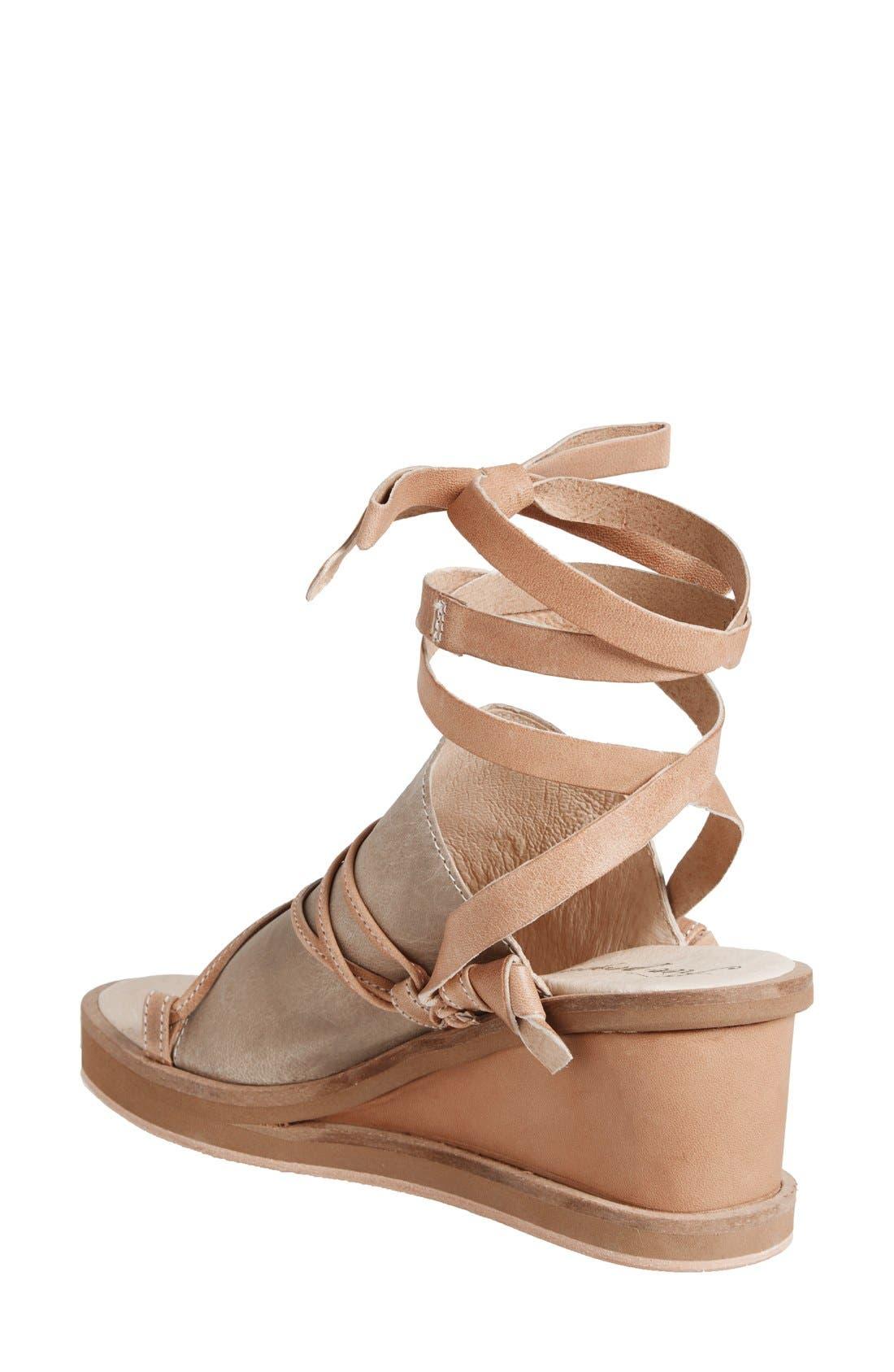 Alternate Image 2  - Free People 'Bowery' Ankle Tie Wedge Sandal