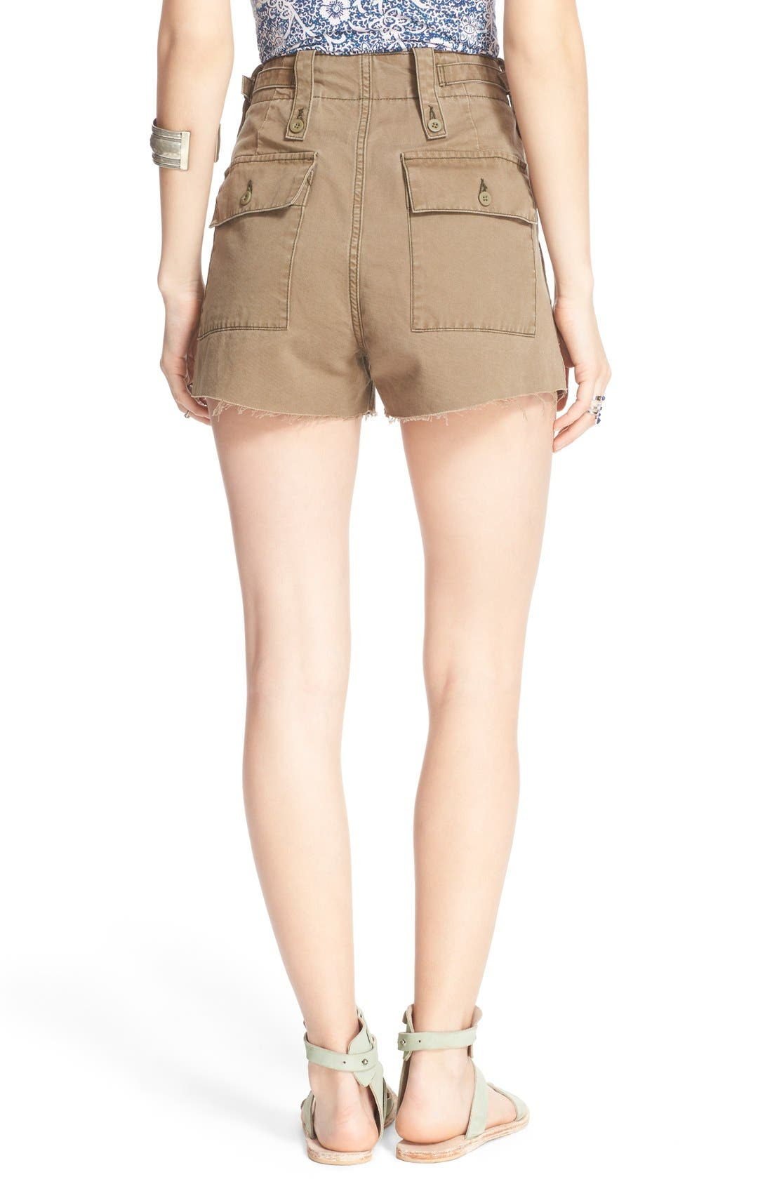 Alternate Image 2  - Free People 'Gunner' High Rise Twill Shorts