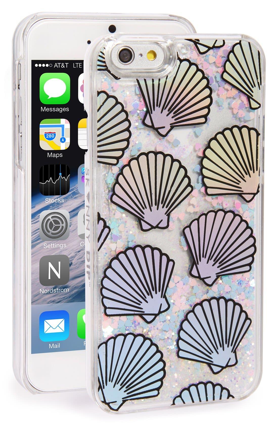 Alternate Image 1 Selected - Skinnydip Glitter Liquid iPhone 6 & 6s Case