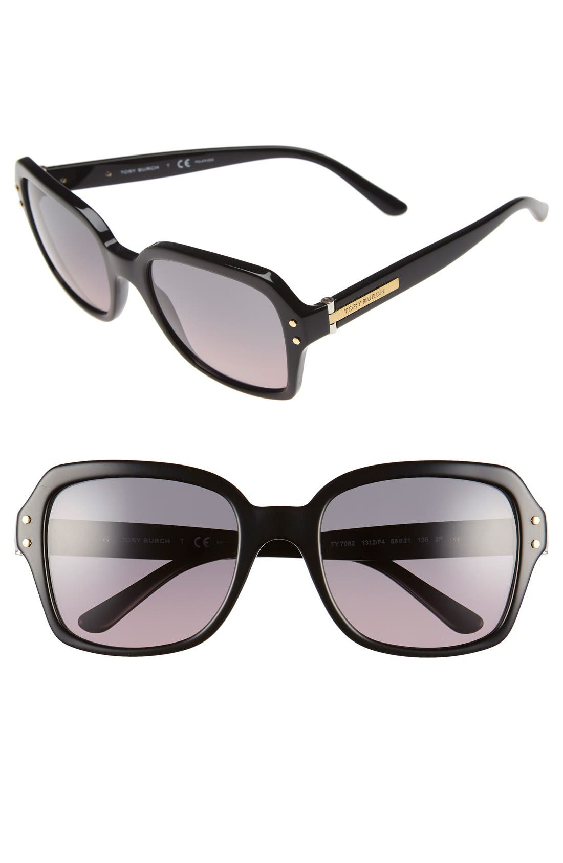 Main Image - Tory Burch 55mm Polarized Sunglasses