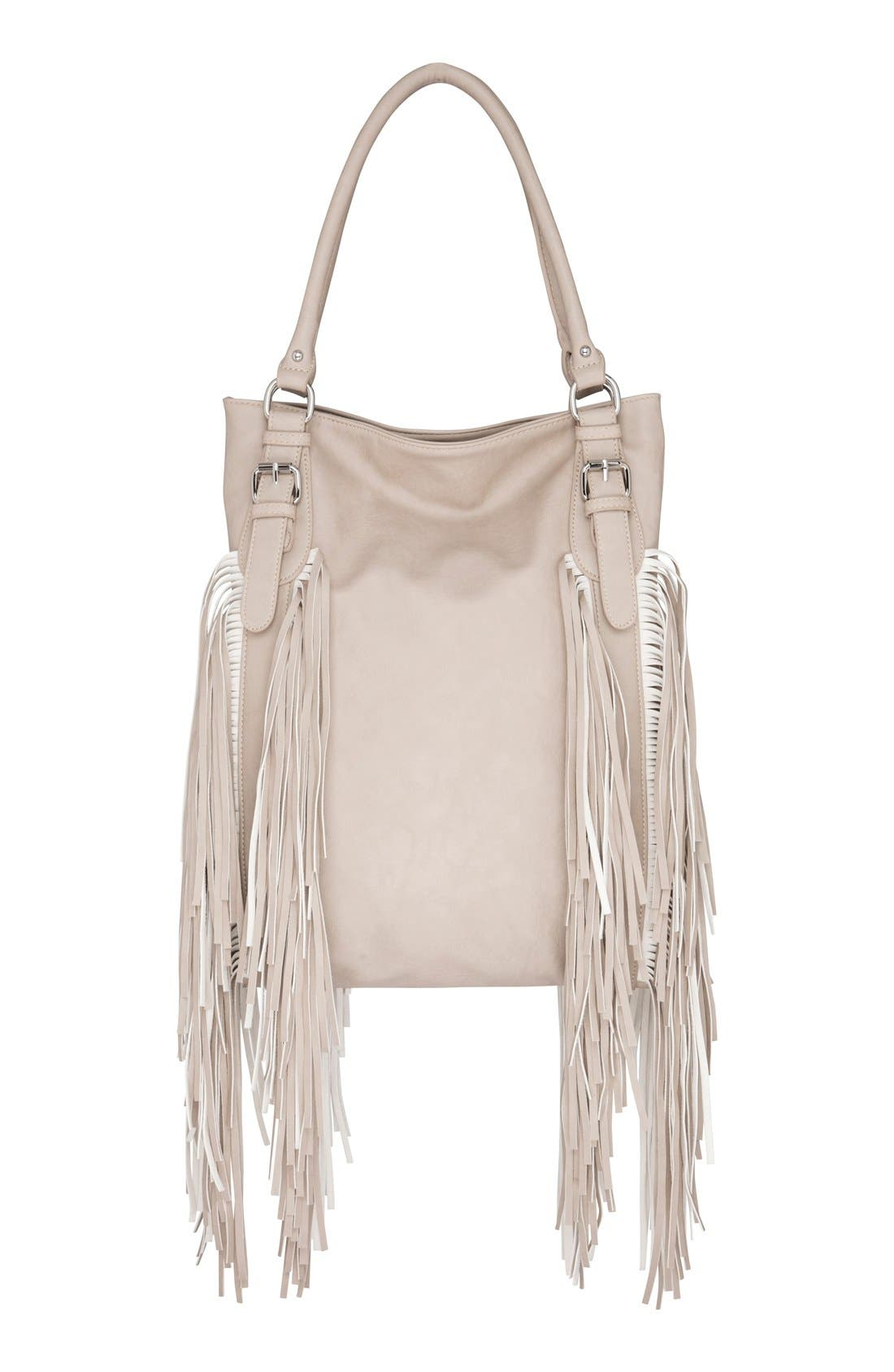 Alternate Image 1 Selected - Urban Originals 'Crazyheart' Fringe Faux Leather Tote