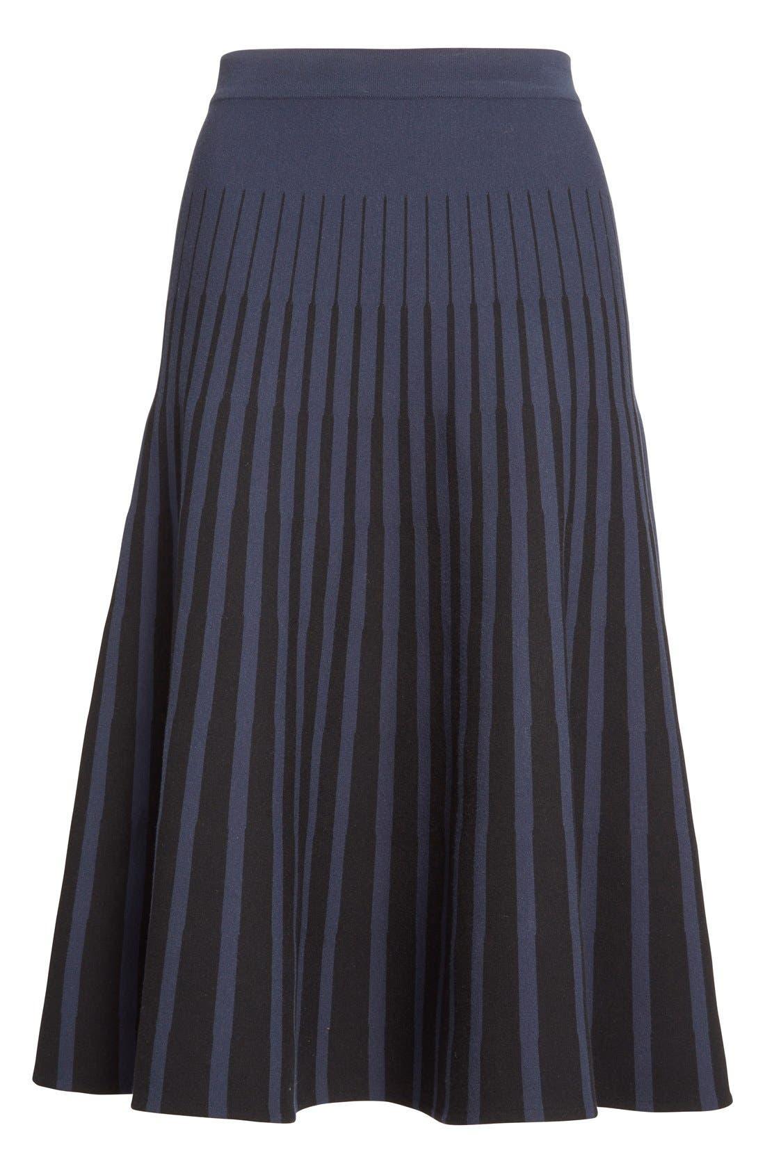 Alternate Image 4  - Tomas Maier Stripe Knit Flared Skirt