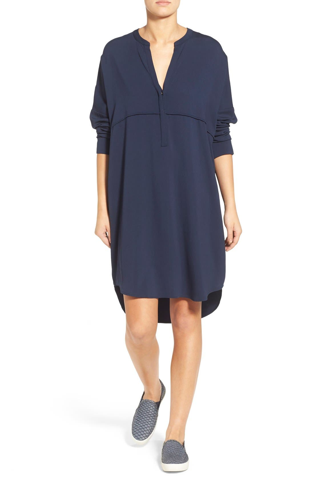 JAMES PERSE Long Sleeve Tunic Dress