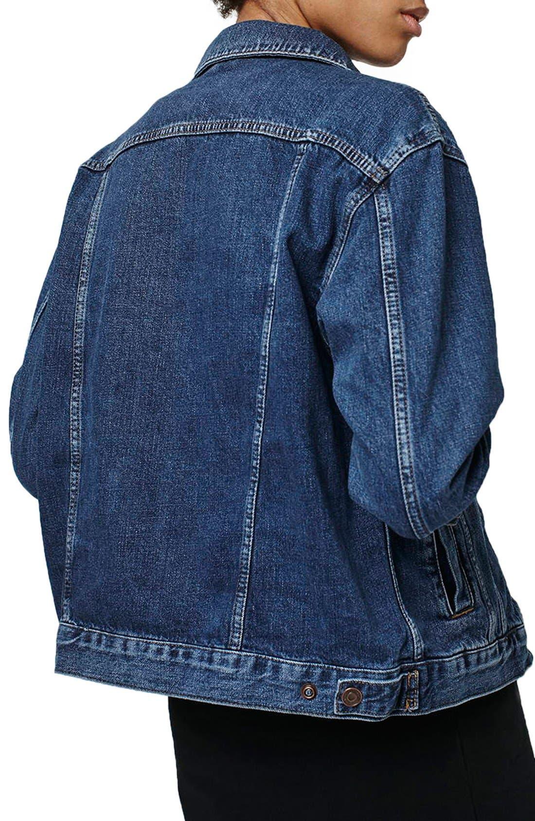 Alternate Image 3  - Topshop Patch Oversize Denim Jacket