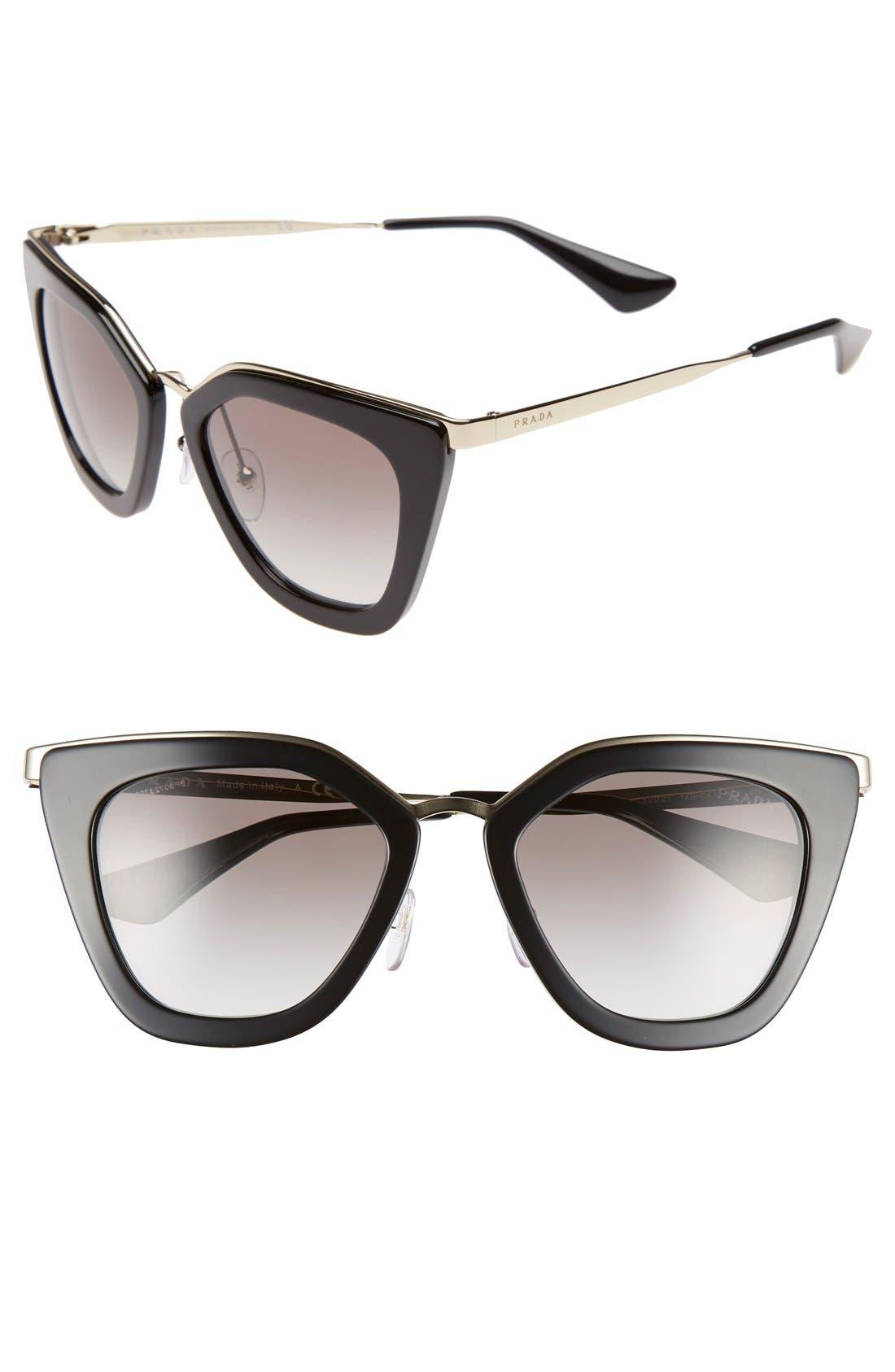 Alternate Image 1 Selected - Prada 52mm Cat Eye Sunglasses