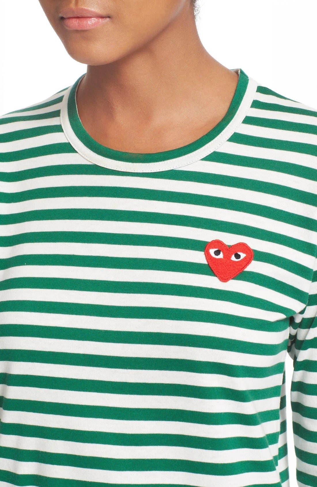 Alternate Image 4  - Comme des Garçons PLAY Stripe Cotton Tee