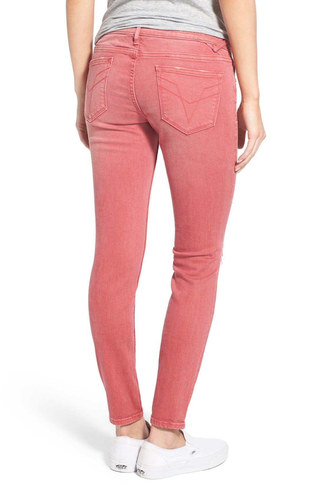 Alternate Image 2  - Vigoss 'Chelsea' Distressed Skinny Jeans