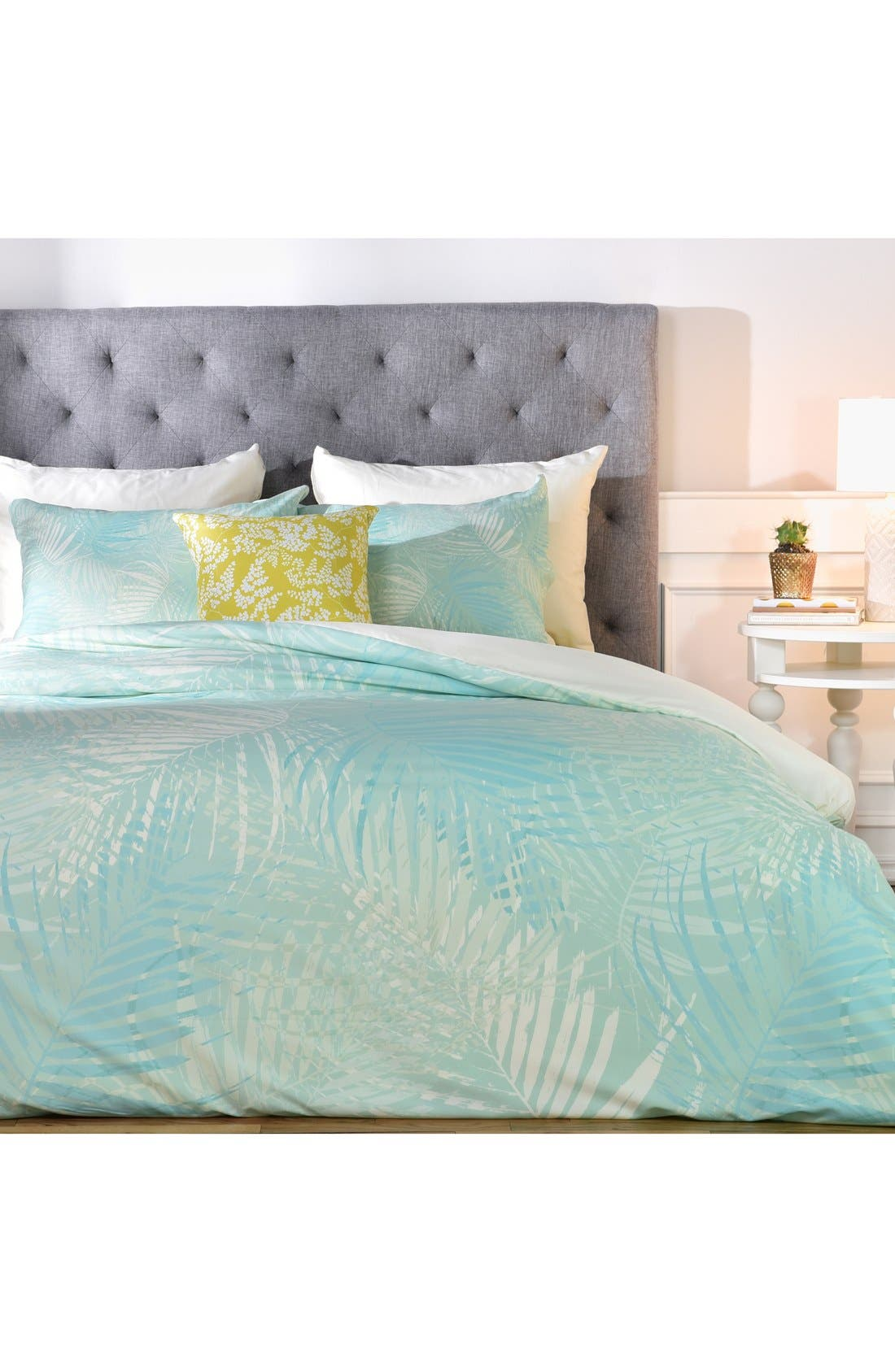 DENY DESIGNS Aimee St. Hill Pale Palm Duvet