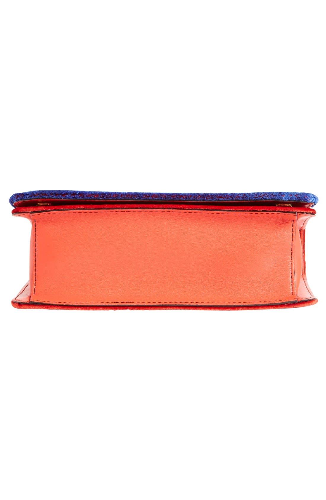 Alternate Image 6  - Moschino Velvet Convertible Shoulder Bag