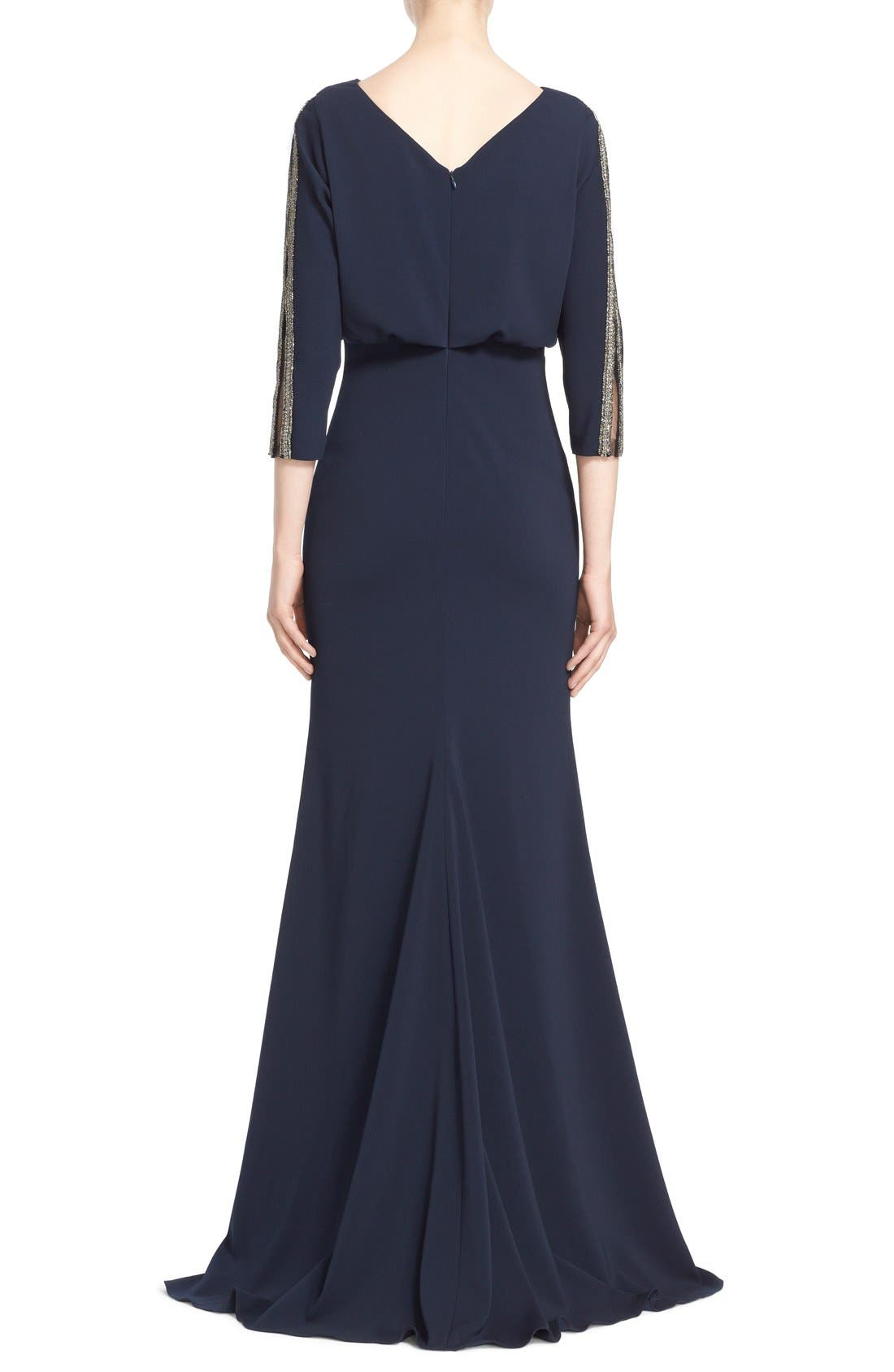 Alternate Image 2  - Badgley Mischka Couture Embellished Blouson Column Gown (Nordstrom Exclusive Color)