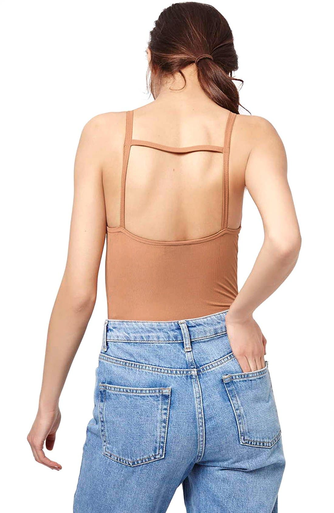 Alternate Image 3  - Topshop Strappy Bodysuit (Regular & Petite)