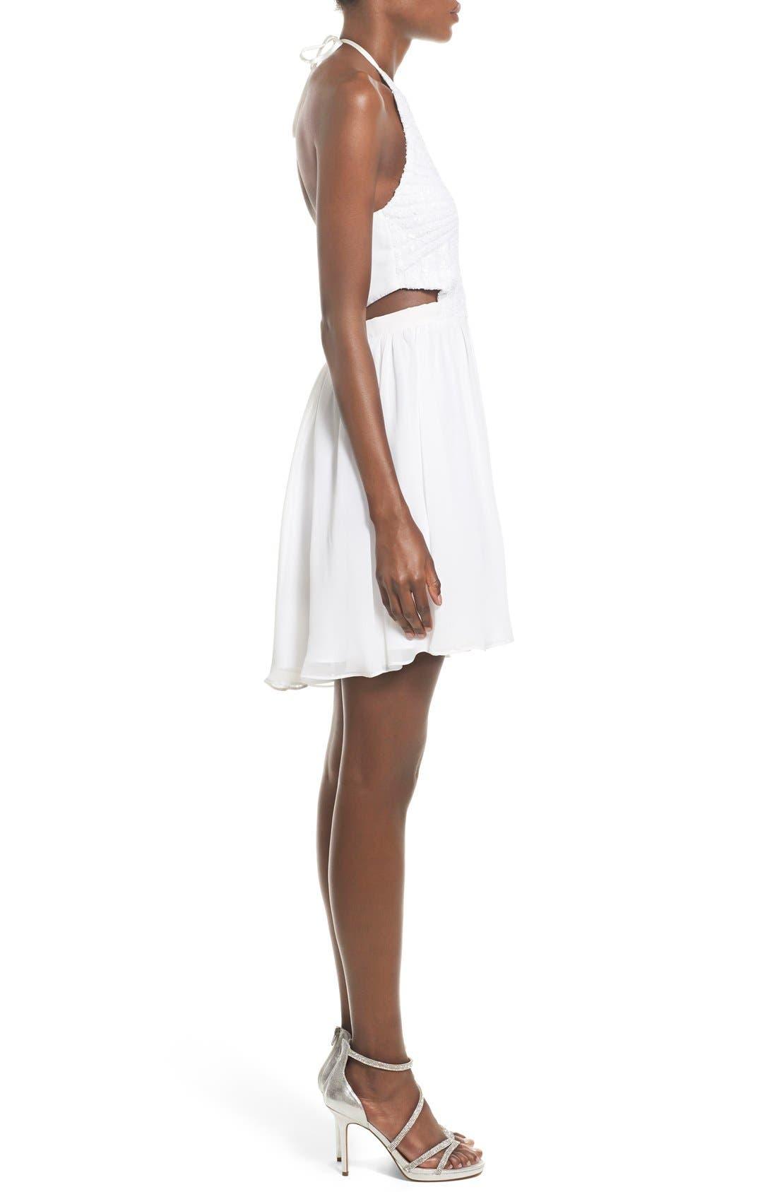Alternate Image 3  - Steppin Out Embellished Halter Skater Dress