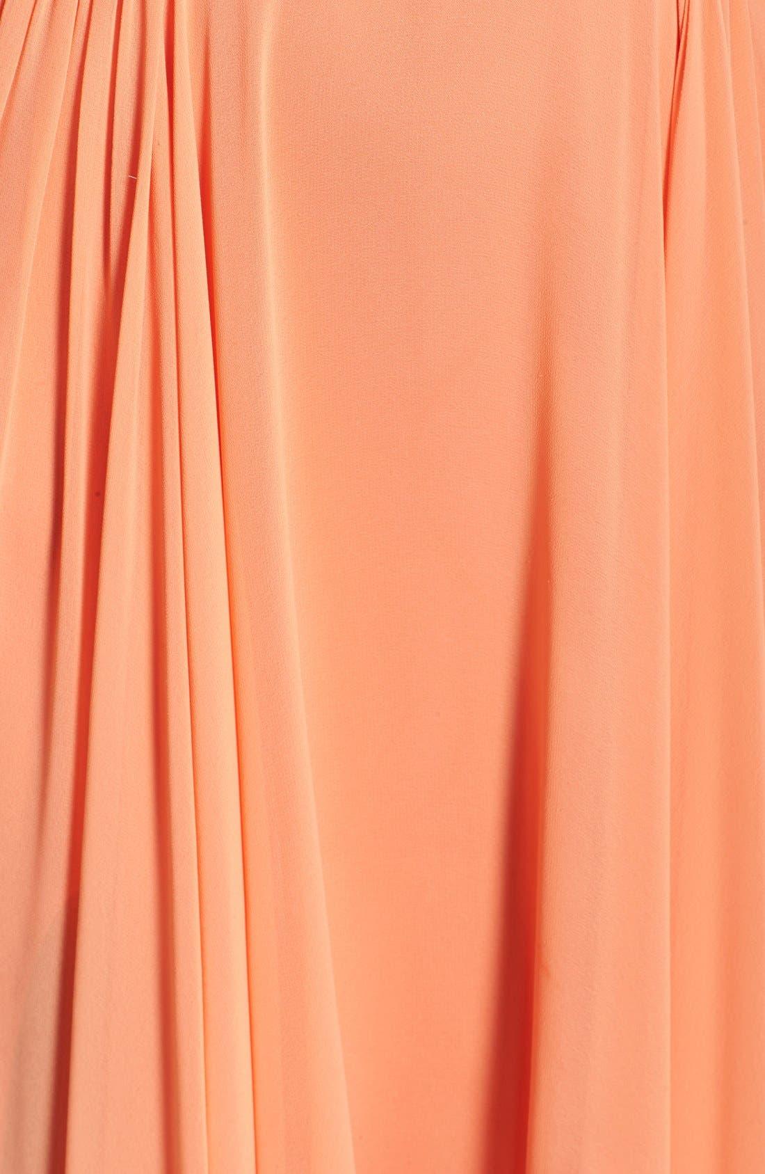 Alternate Image 5  - Terani Couture Cutout Embellished Chiffon Gown