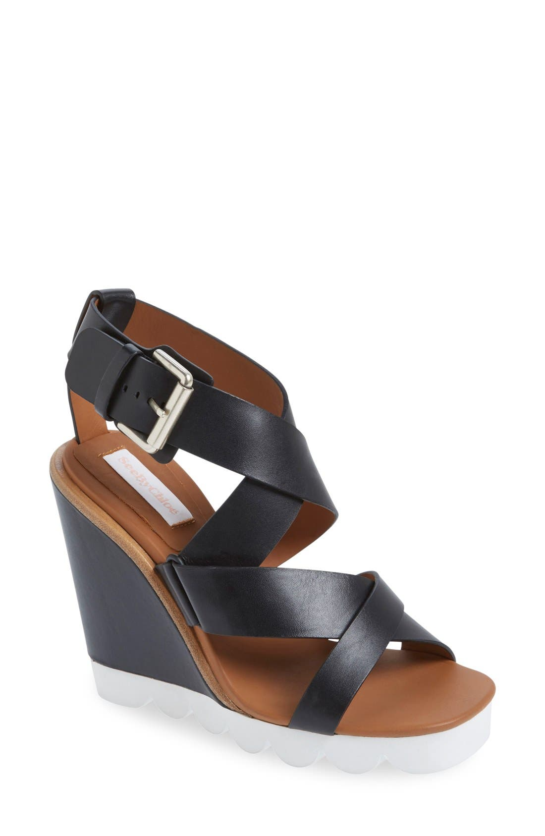 Alternate Image 1 Selected - See by Chloé 'Tiny' Wedge Sandal (Women)