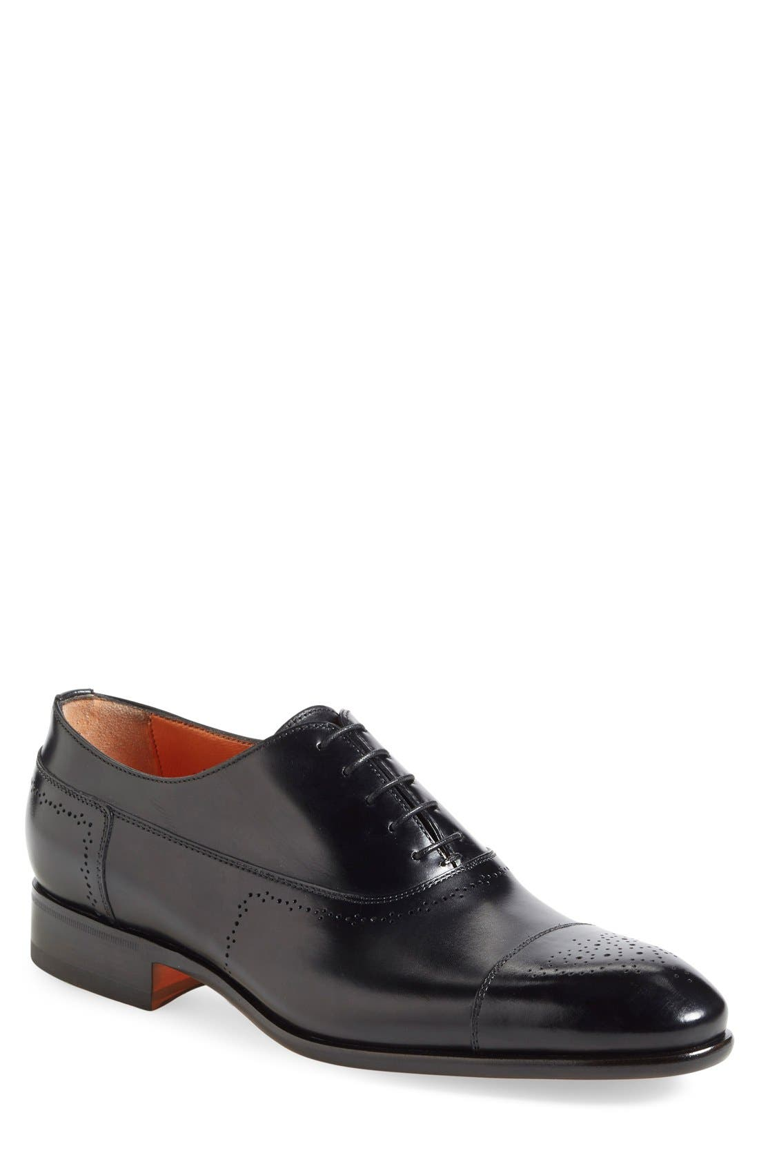 Santoni Danby Cap Toe Oxford (Men)
