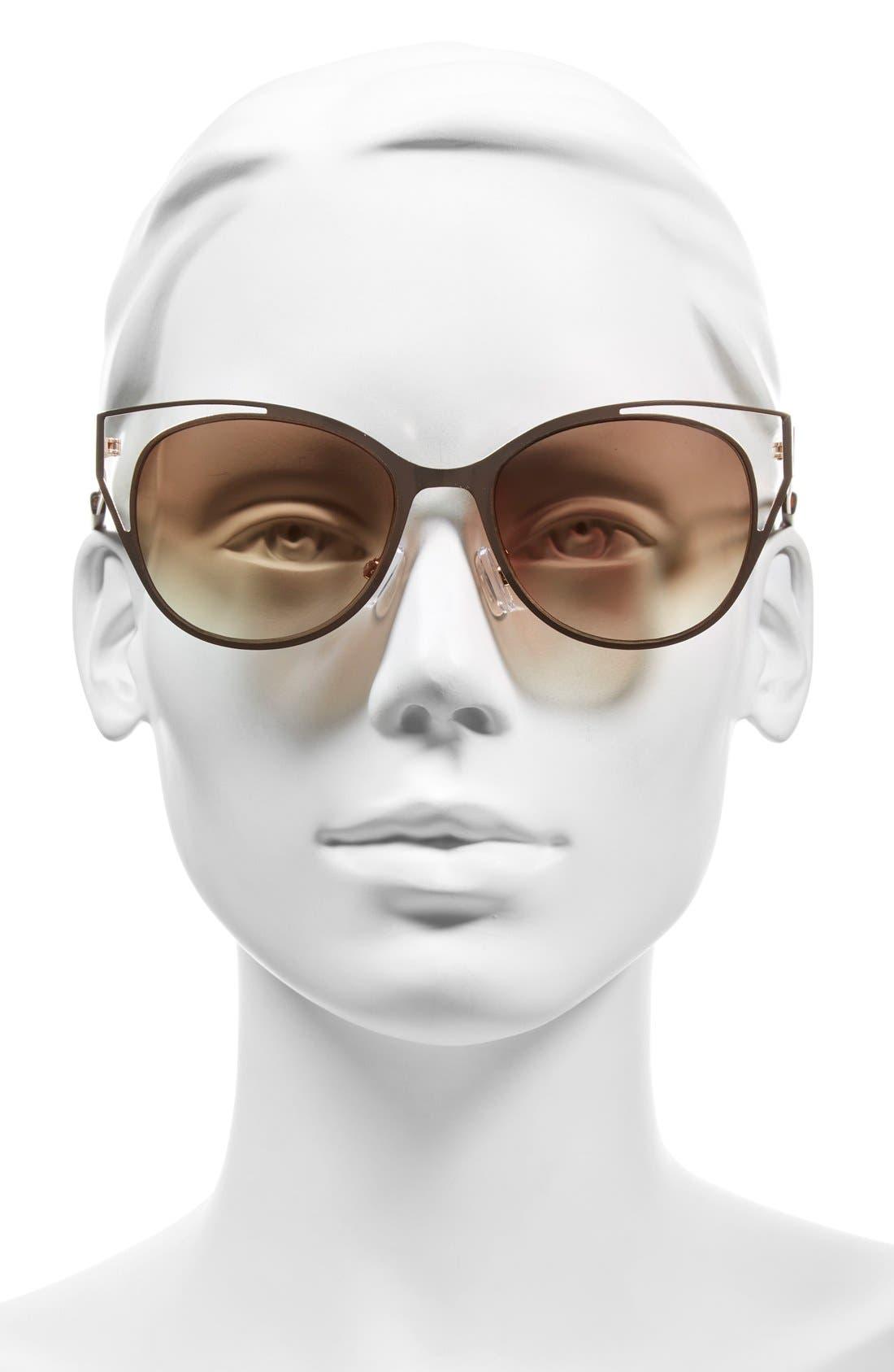 Alternate Image 2  - BP. 54mm Cutout Cat Eye Metal Sunglasses