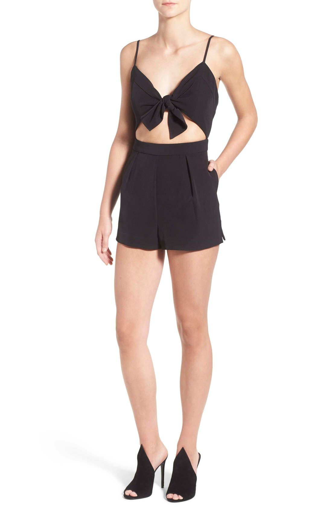 Alternate Image 1 Selected - KENDALL + KYLIE Tie Front Romper