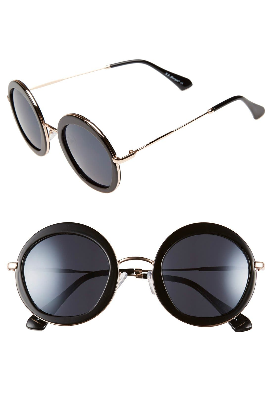 Main Image - A.J. Morgan 'Clique' 50mm Round Sunglasses