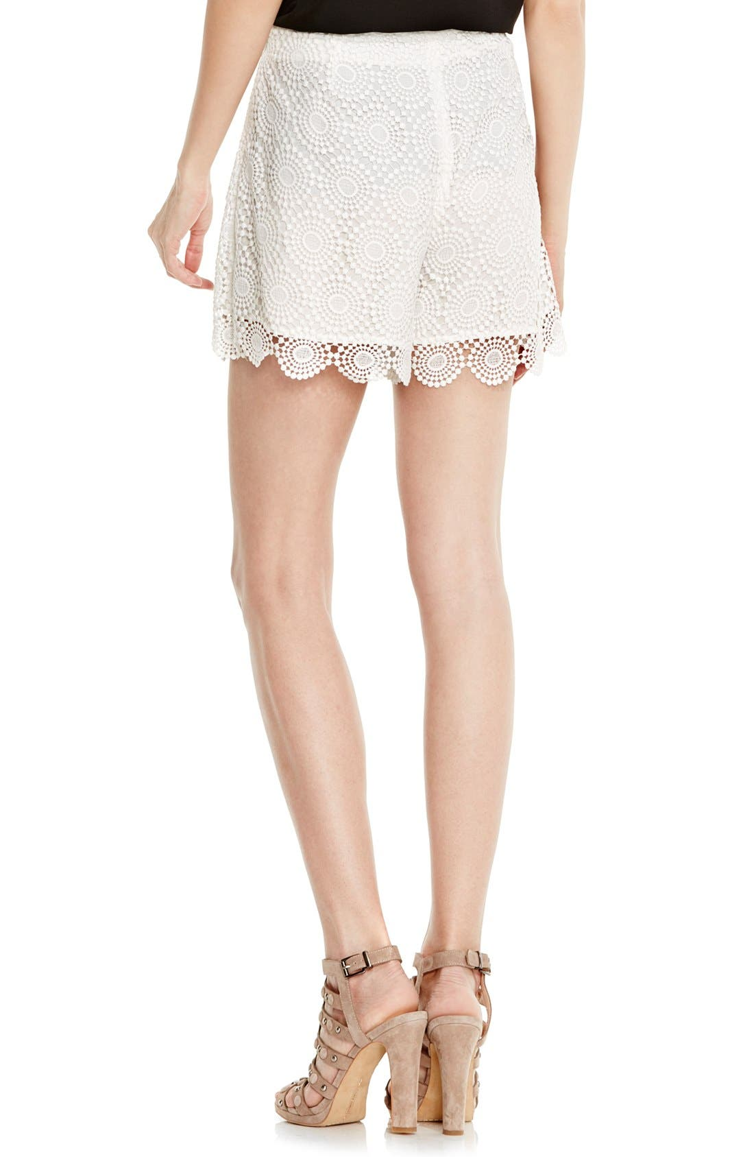 Alternate Image 3  - Vince Camuto Embroidered Lace Shorts (Regular & Petite)
