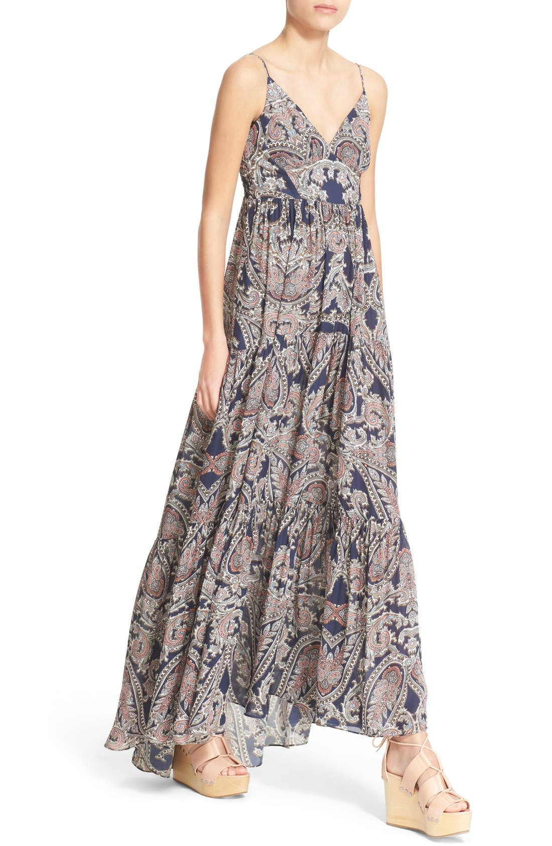 Alternate Image 4  - L'AGENCE 'Honor' Print Silk Maxi Dress