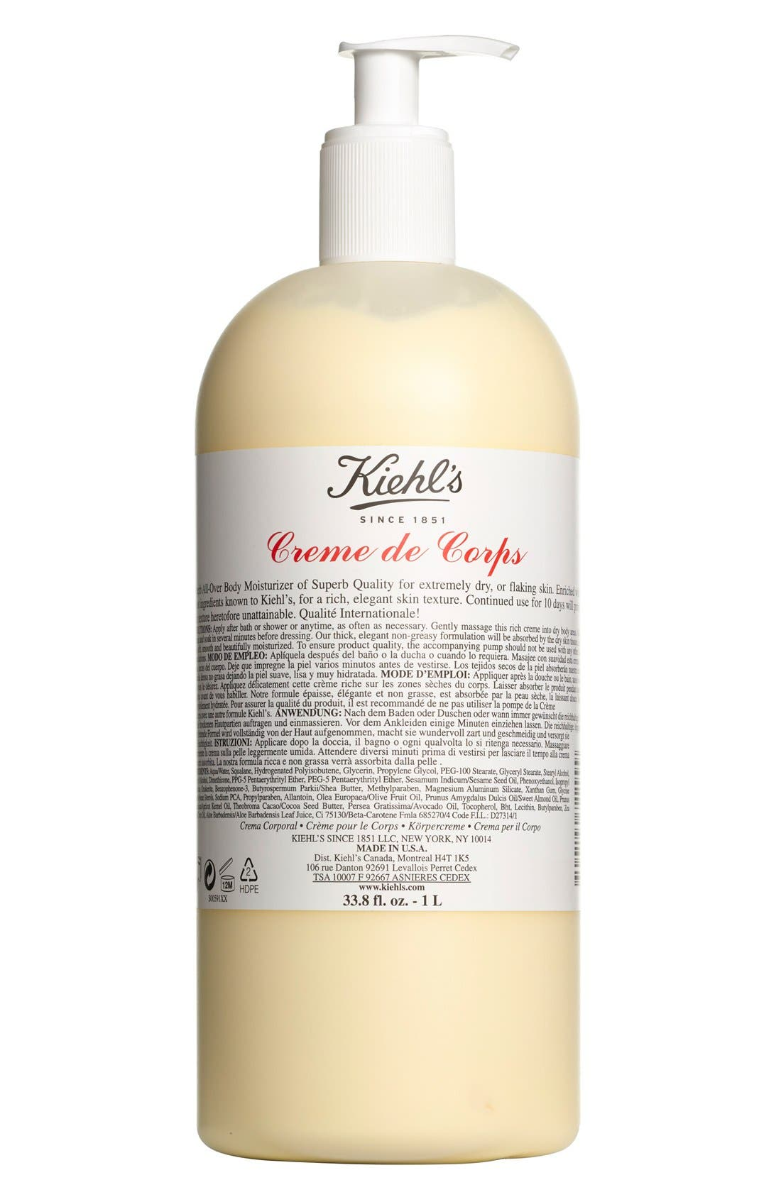 Kiehl's Since 1851 Jumbo Creme de Corps with Pump ($96 Value)