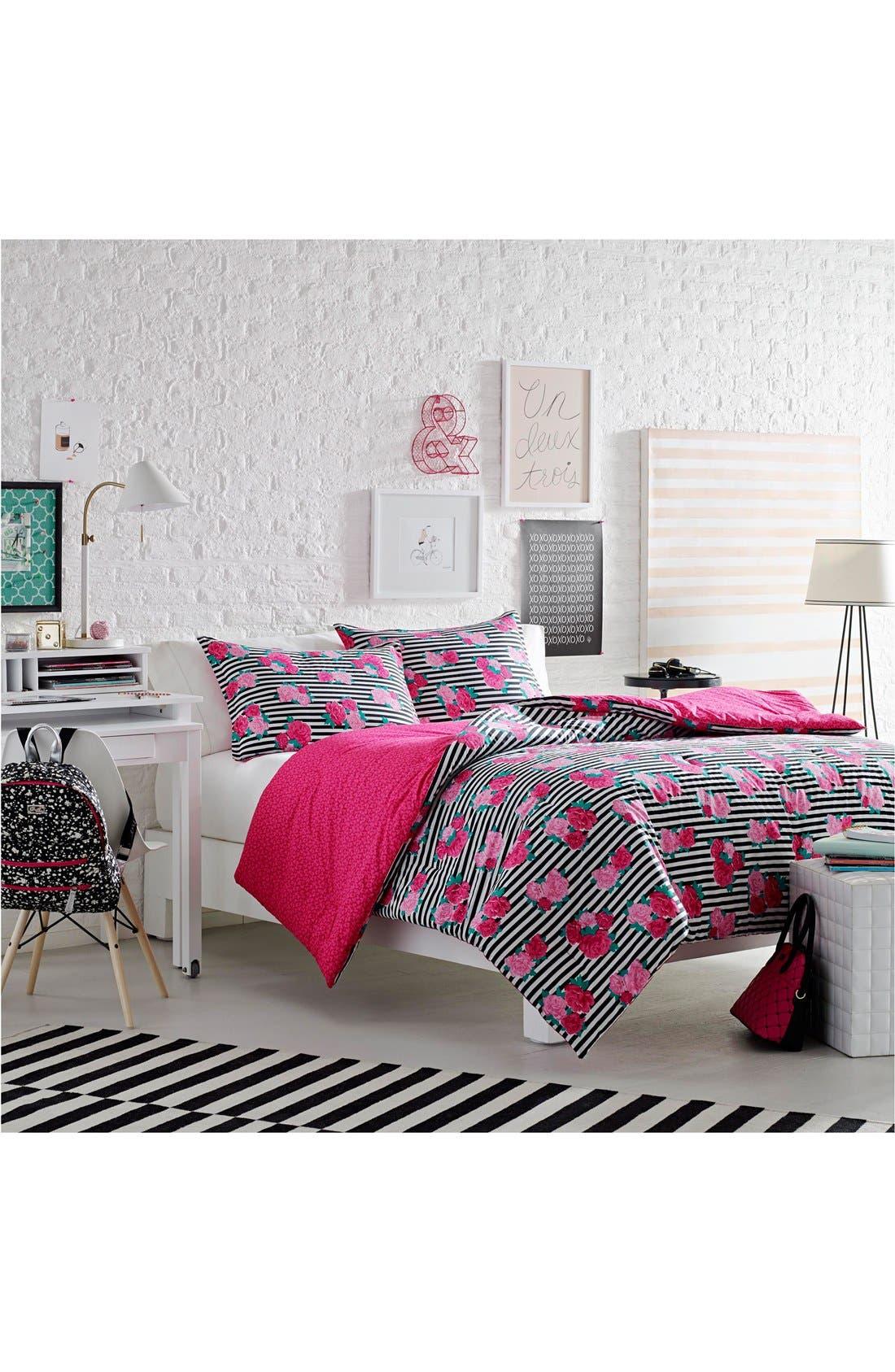 Alternate Image 1 Selected - Betsey Johnson Bedding Royal Roses Comforter & Sham Set