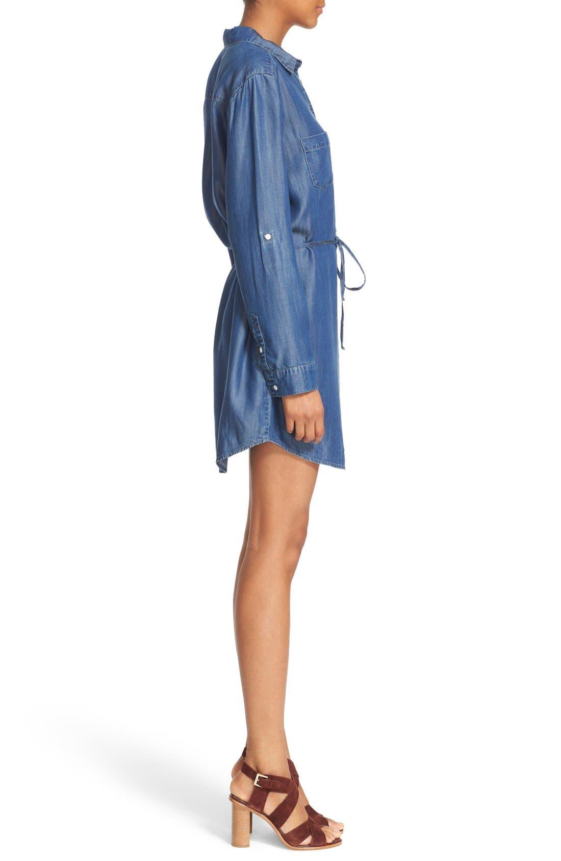 Alternate Image 3  - Soft Joie 'Lilyana' Roll Sleeve Shirtdress