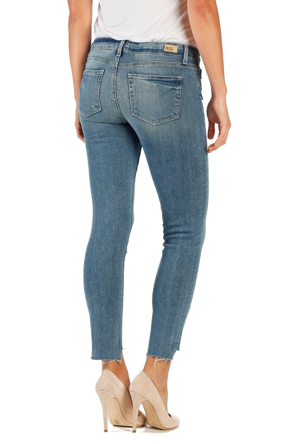 Alternate Image 2  - PAIGE 'Skyline' Cutoff Ankle Peg Skinny Jeans (Wiley)