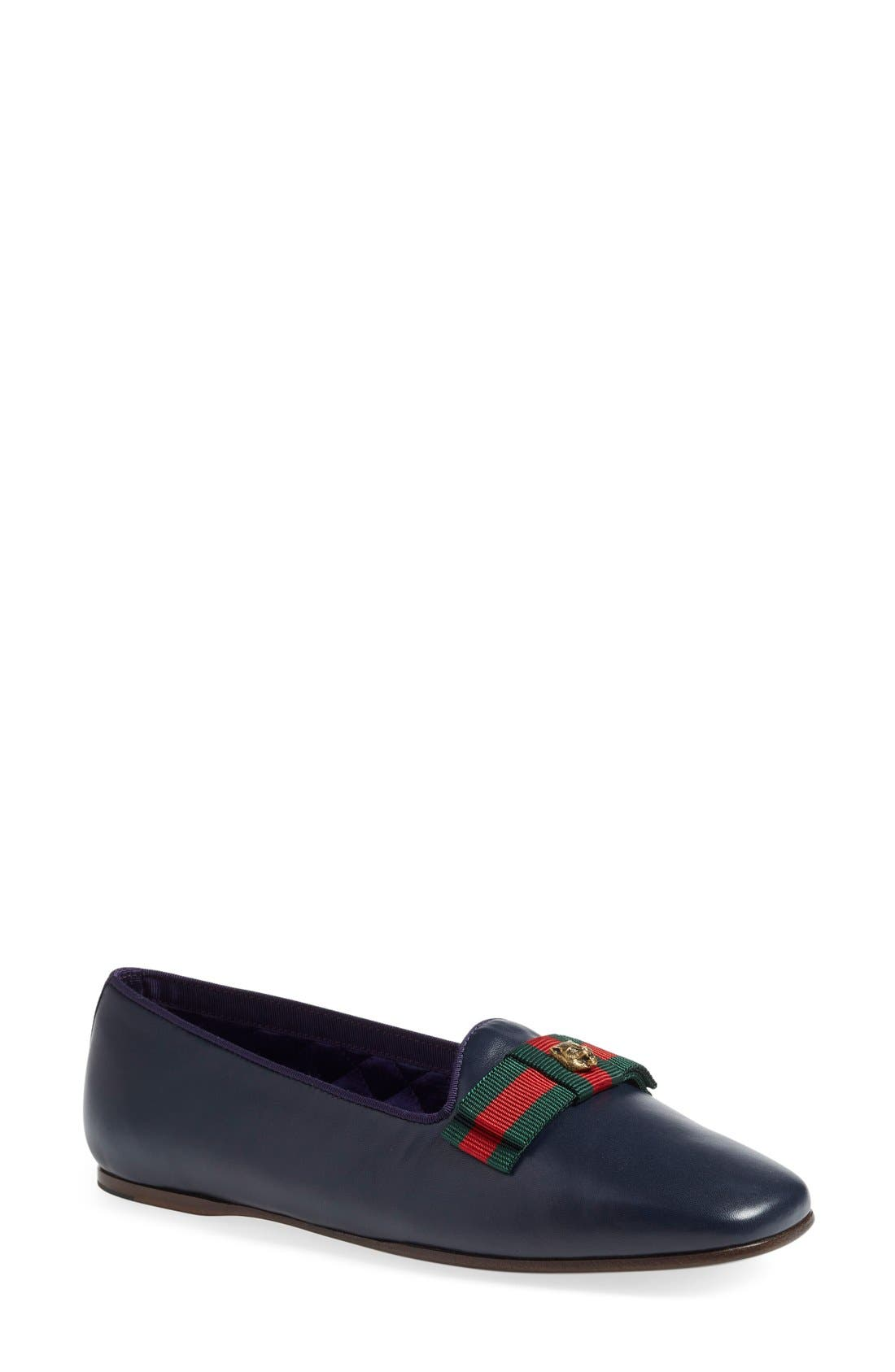 Gucci 'Gallipoli' Smoking Flat (Women)