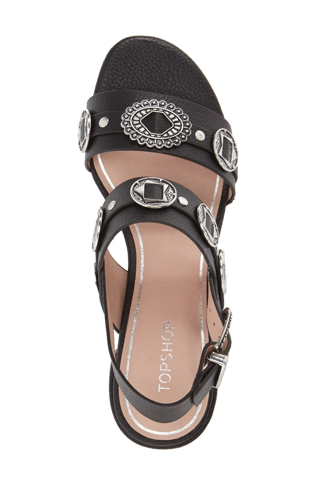 Alternate Image 4  - Topshop 'Dandy' Block Heel Sandal (Women)