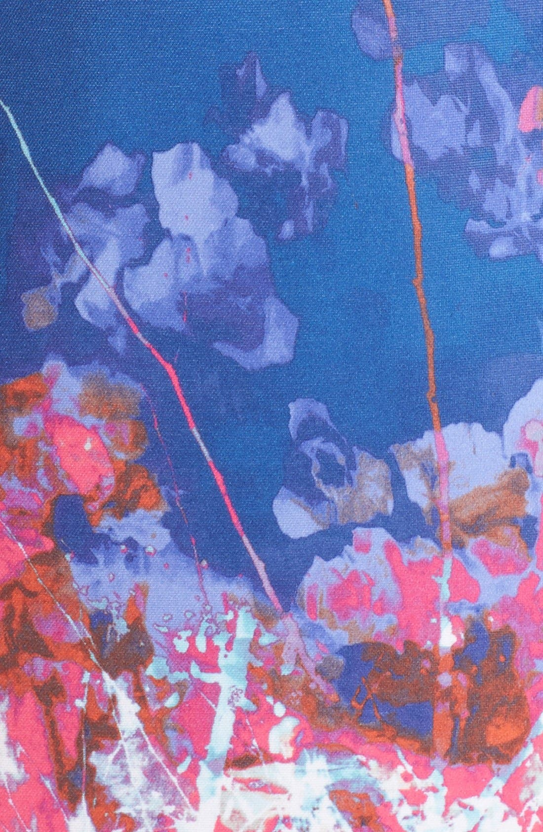 Alternate Image 5  - Adrianna Papell Floral Border Print Scuba Sheath Dress