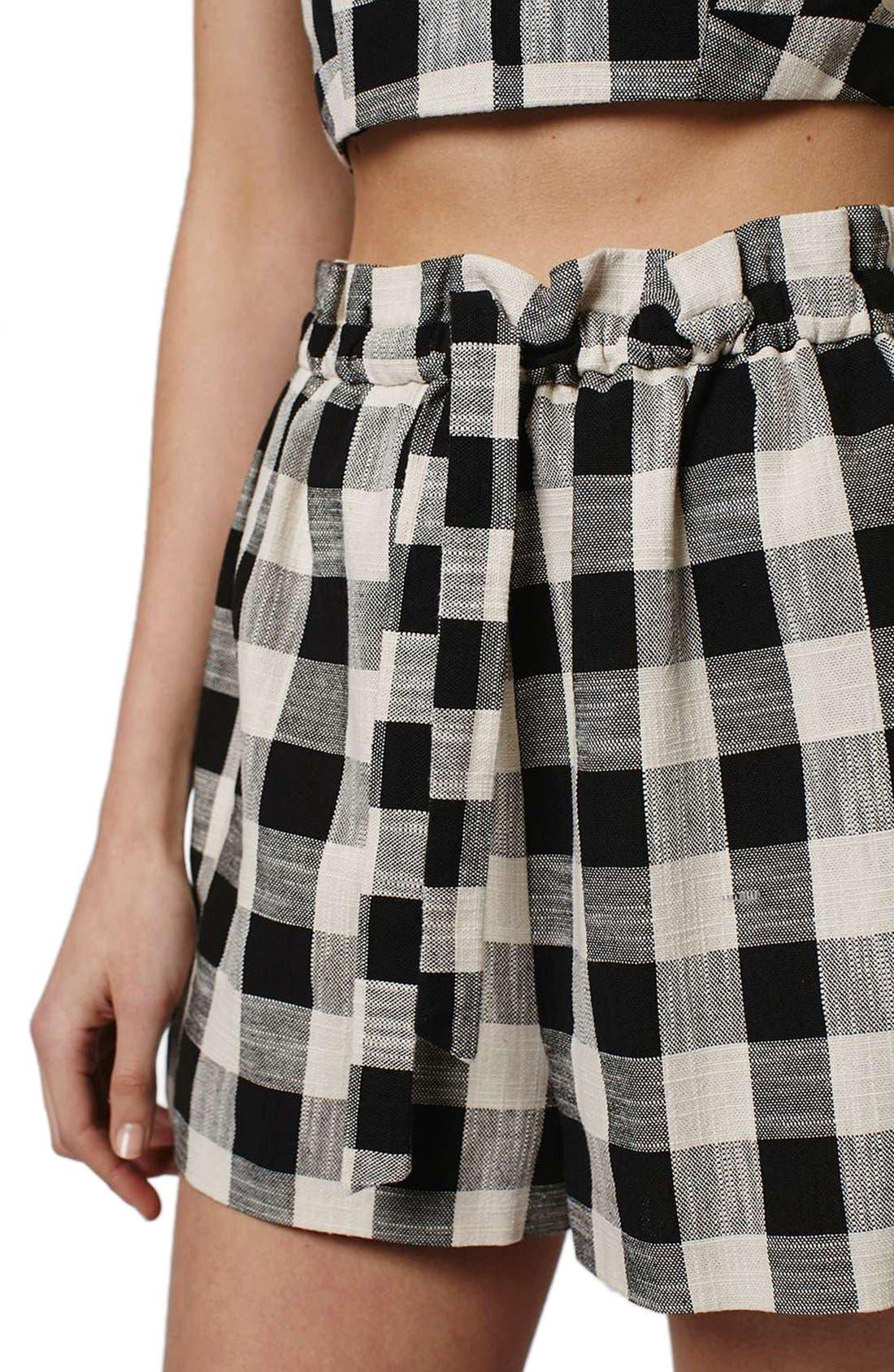 Alternate Image 5  - Topshop Gingham Paperbag Shorts