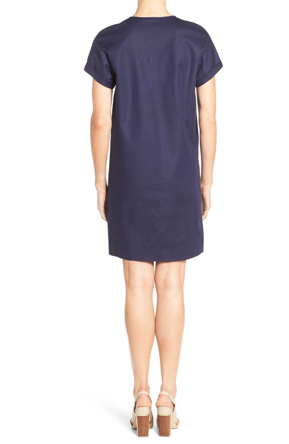 Alternate Image 2  - Nordstrom Collection Stretch Poplin Shift Dress