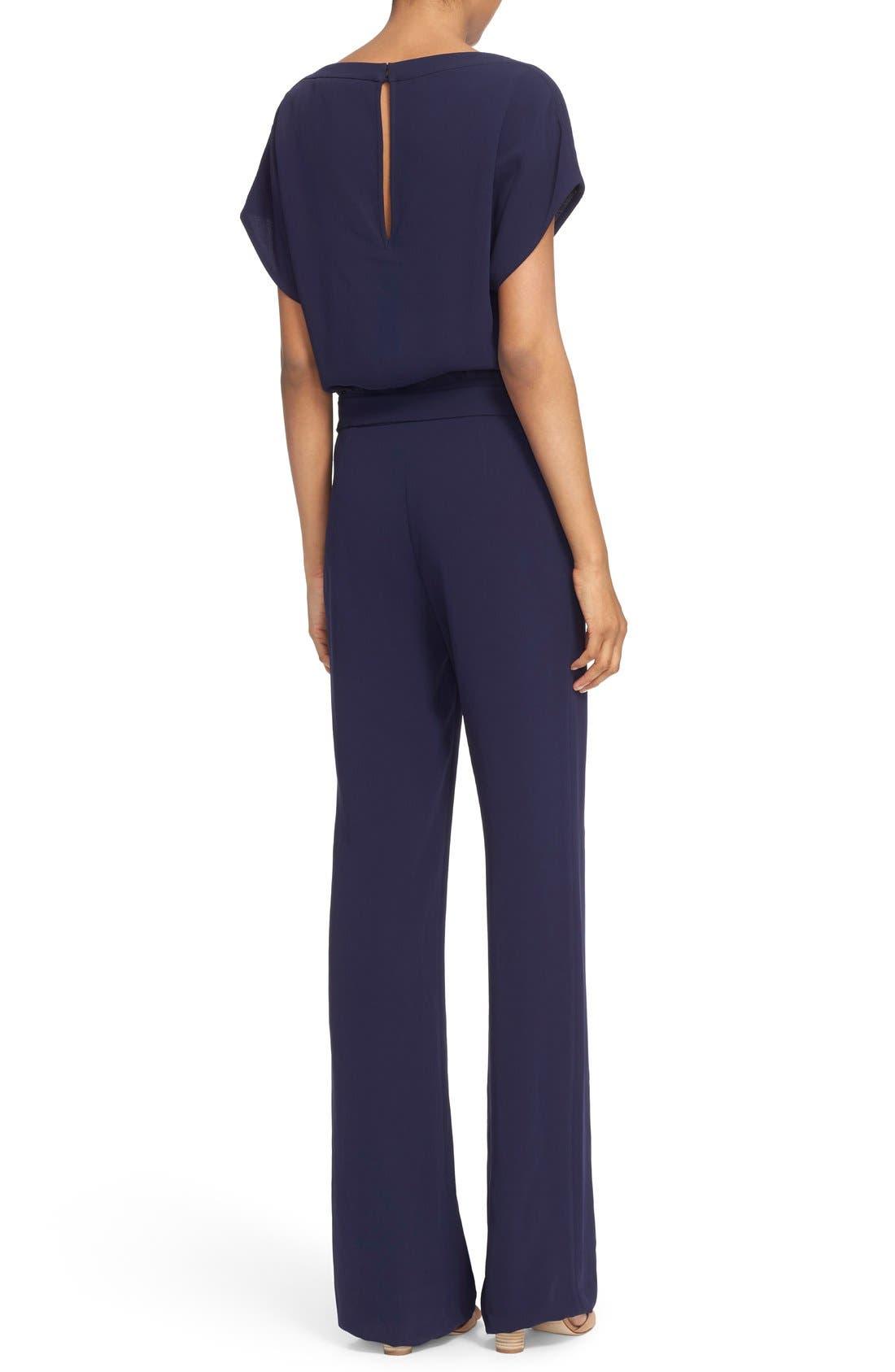 Alternate Image 2  - Diane von Furstenberg Dolman Sleeve Crepe Blouson Jumpsuit