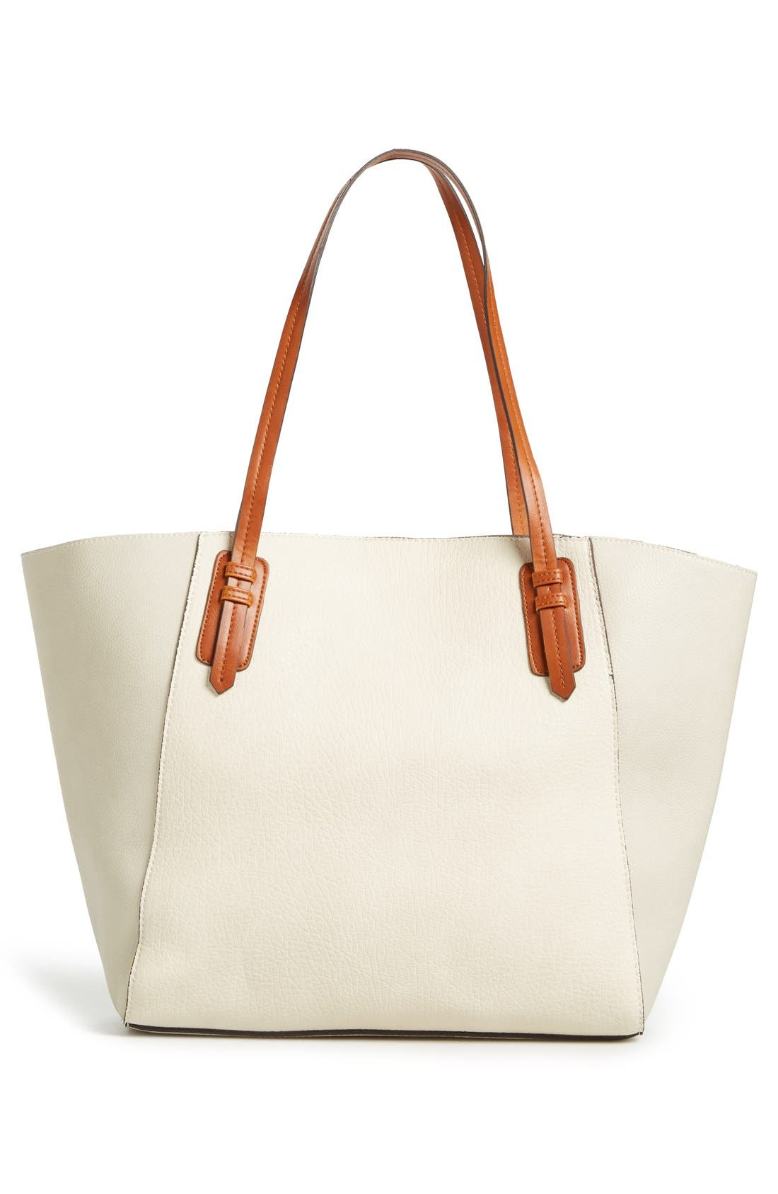 Alternate Image 3  - Sole Society Faux Leather Trapeze Tote