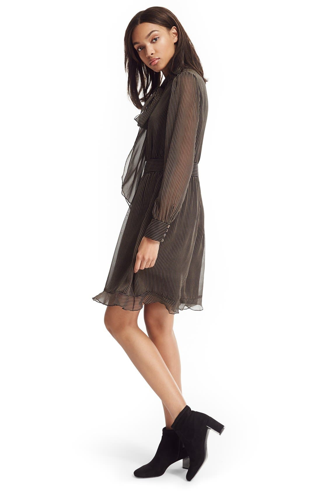 Alternate Image 6  - Diane von Furstenberg 'Arabella' Pinstripe Silk Dress