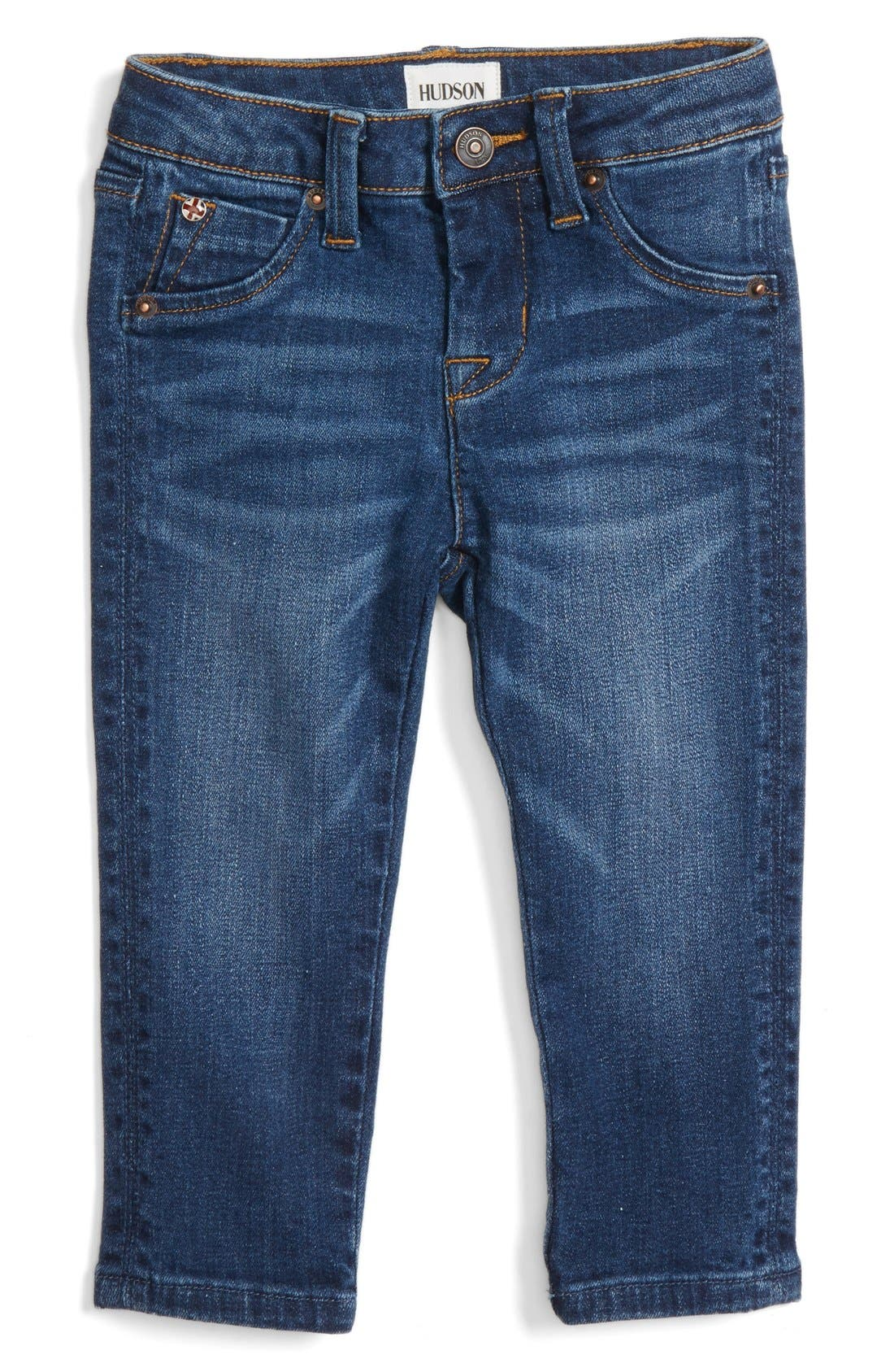 Alternate Image 1 Selected - Hudson 'Collin' Skinny Jeans (Baby Girls)