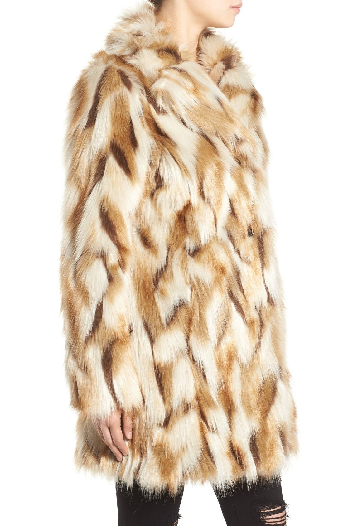 Alternate Image 3  - 7 for All Mankind Faux Fur Coat