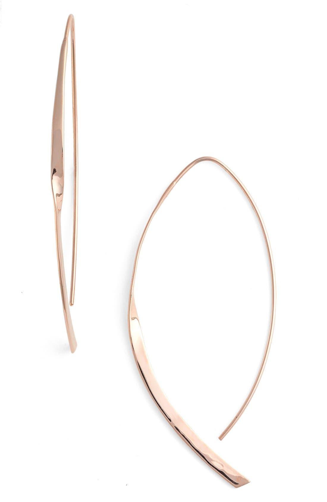 Lana Jewelry 'Twist Arch' Small Hoop Earrings