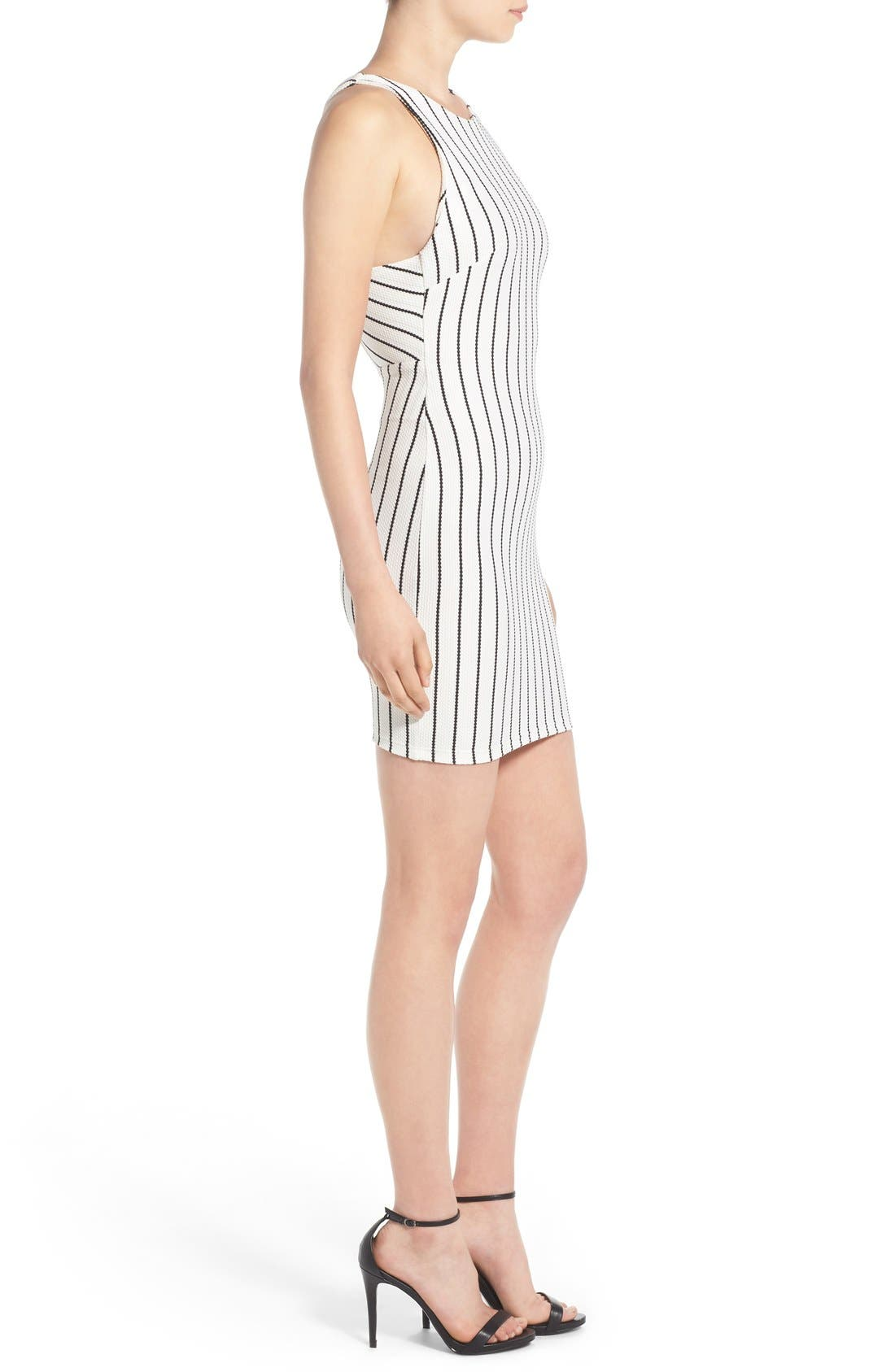Alternate Image 3  - Lush Clothing Stripe Body-Con Dress