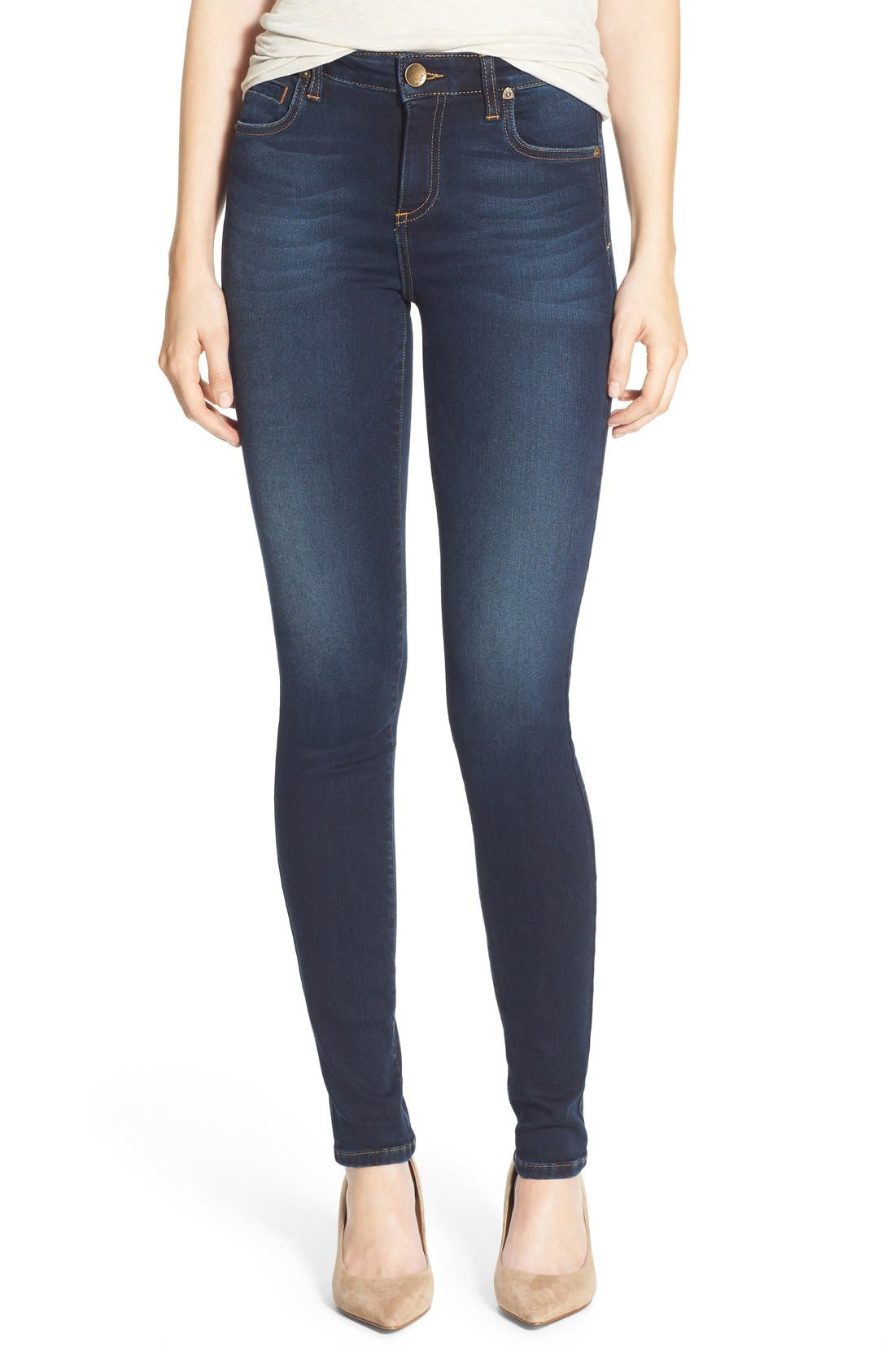 Alternate Image 1 Selected - KUT from the Kloth 'Diana' Stretch Skinny Jeans (Brisk)