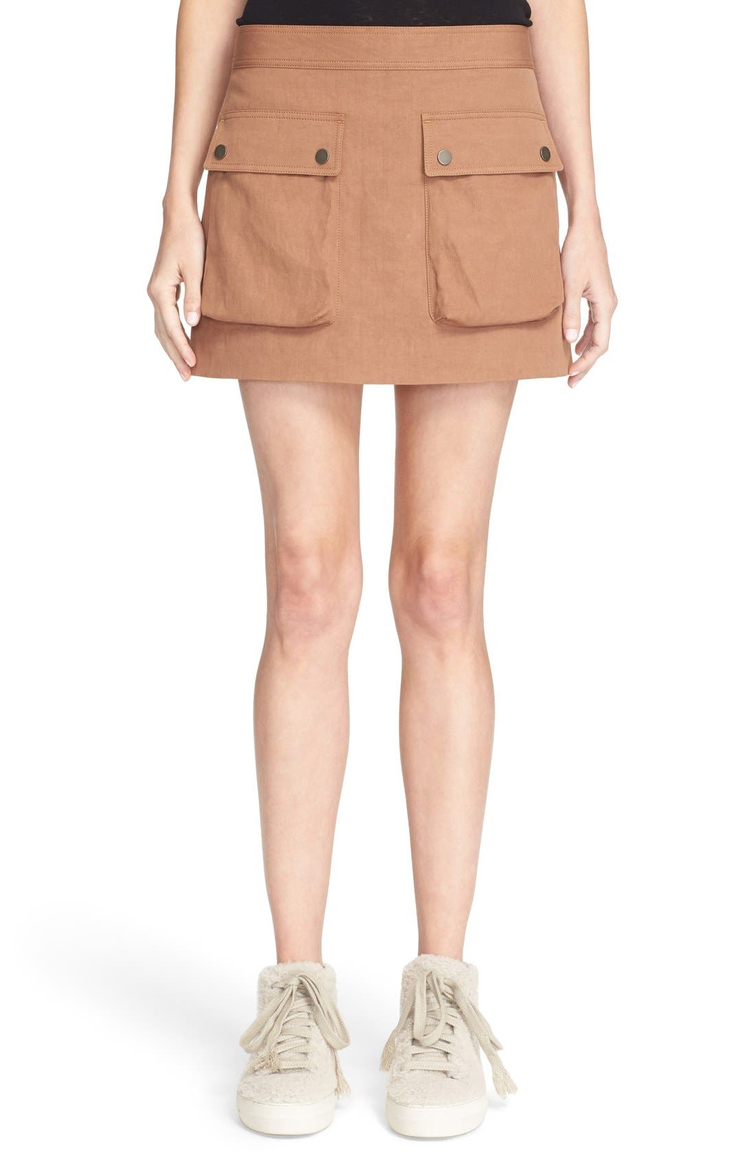 Main Image - Helmut Lang Double Pocket Miniskirt