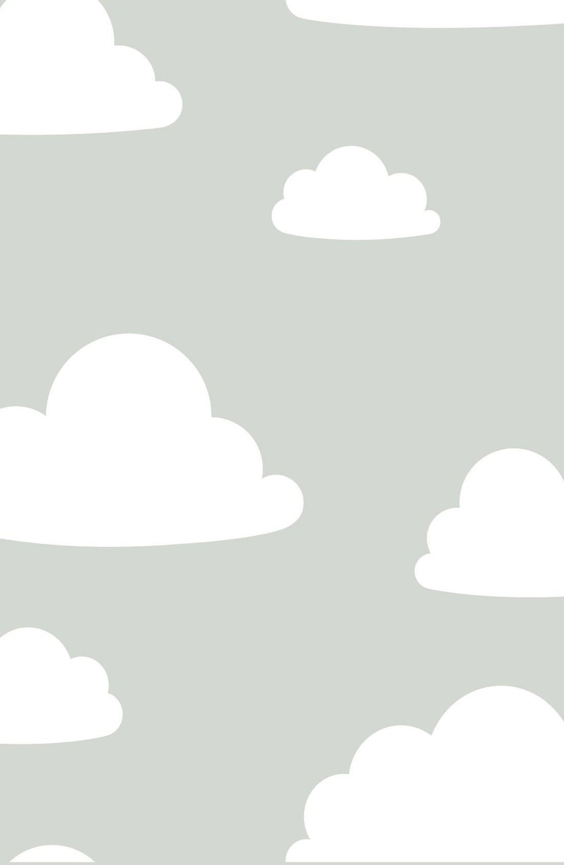 Main Image - Wallpops 'Clouds' Reusable Peel & Stick Vinyl Wallpaper